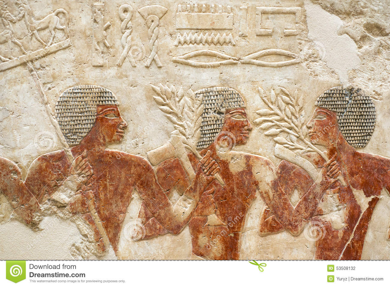 Egyptian carving stock photo image