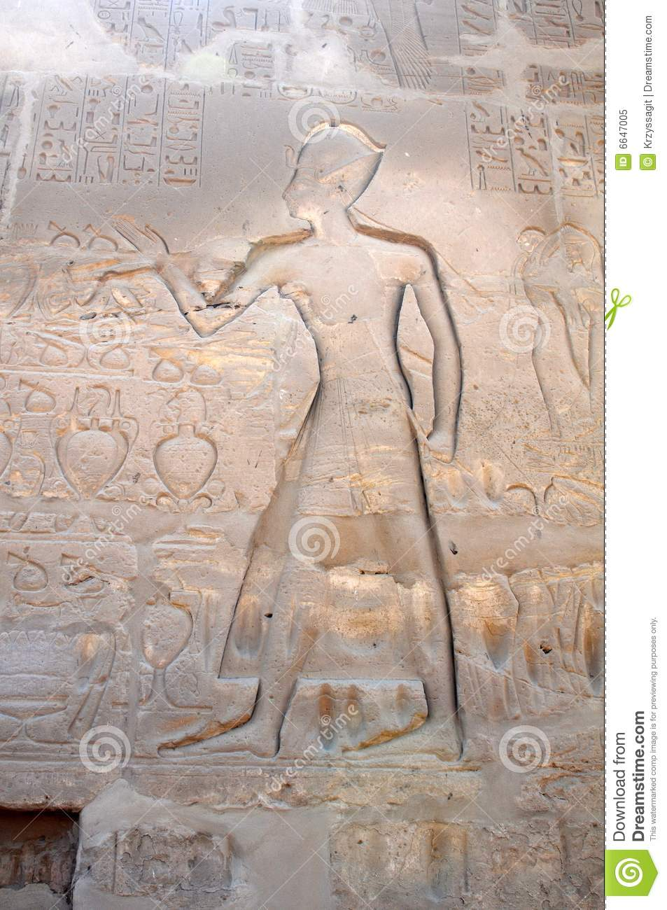 Egyptian carvings royalty free stock photo image