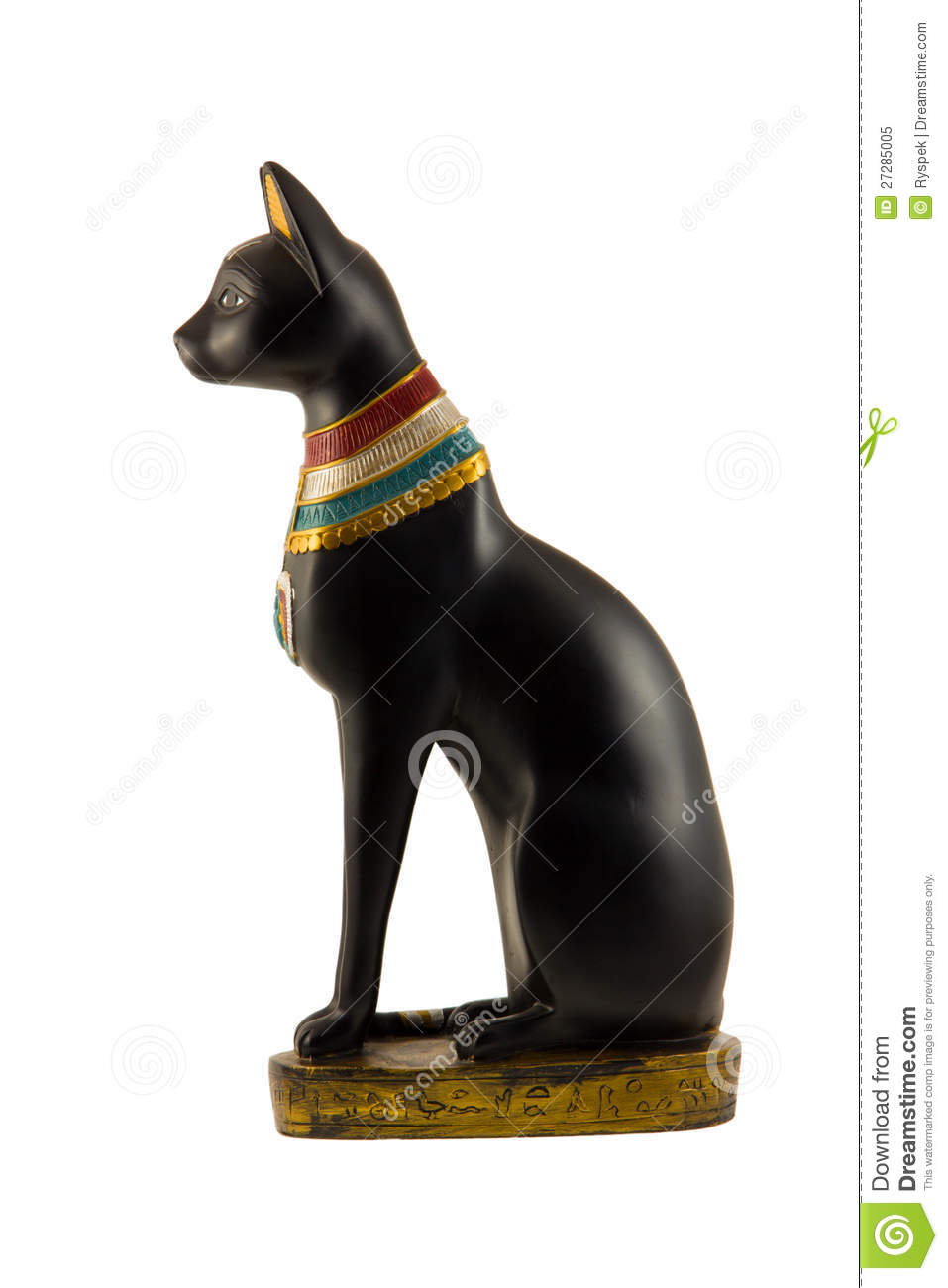 Egyptian Black Cat Art