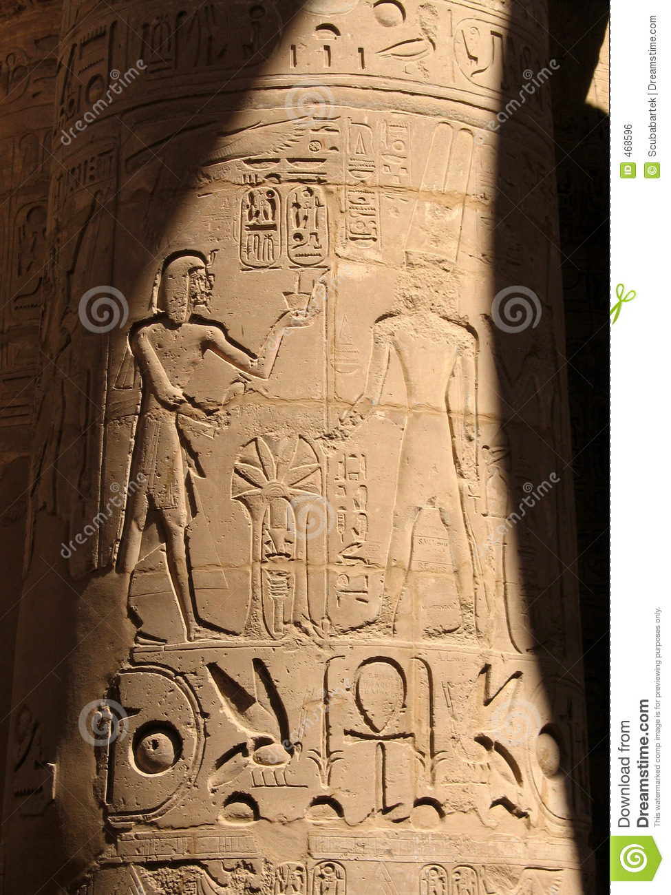 Download Egyptian column stock photo. Image of marble, archeology - 468596