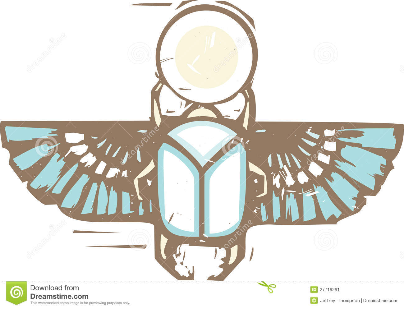 7d7d44aa687b0 Egyptian Distressed Winged Scarab Stock Vector - Illustration of ...