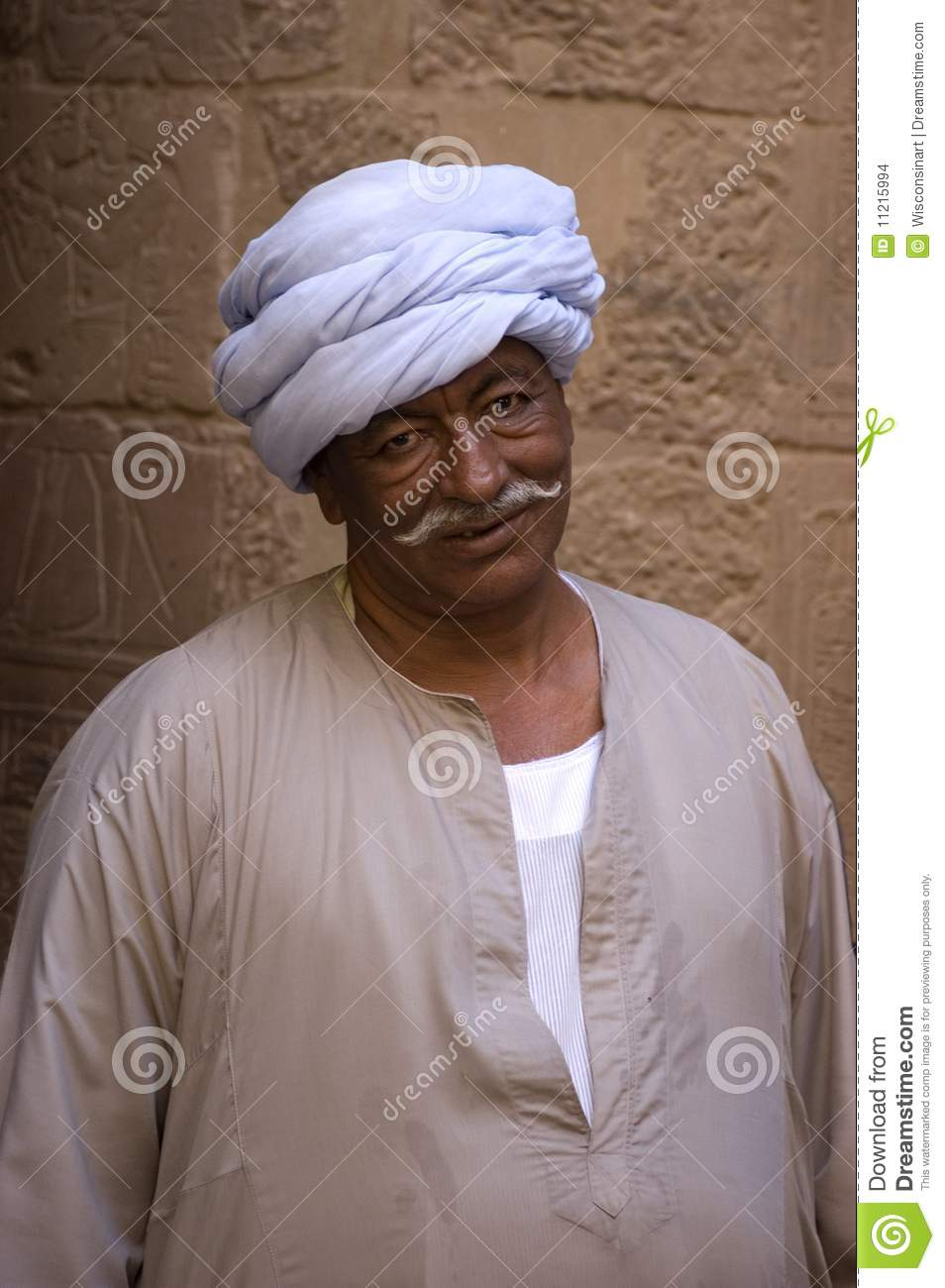 Egyptian Dressed in Traditional Arab Clothing