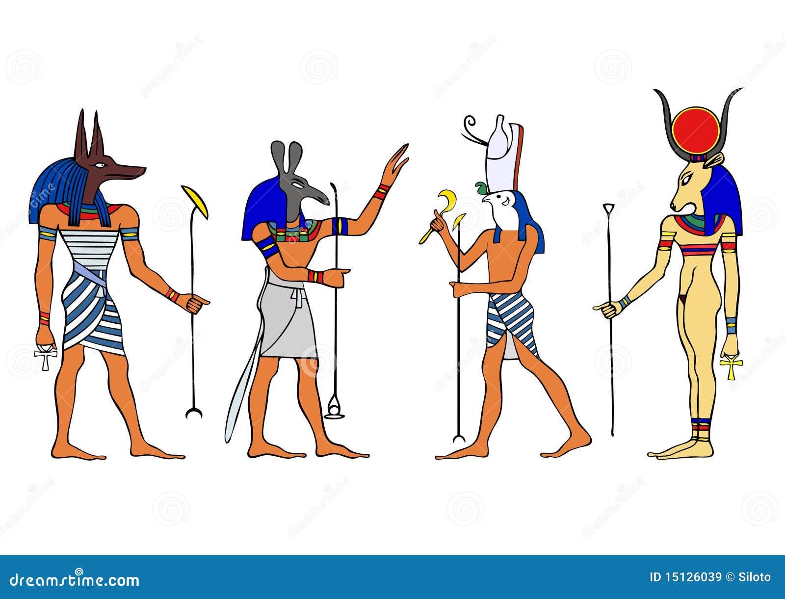 Alive Character Design Pdf Download : Egyptian gods and goddess stock illustration