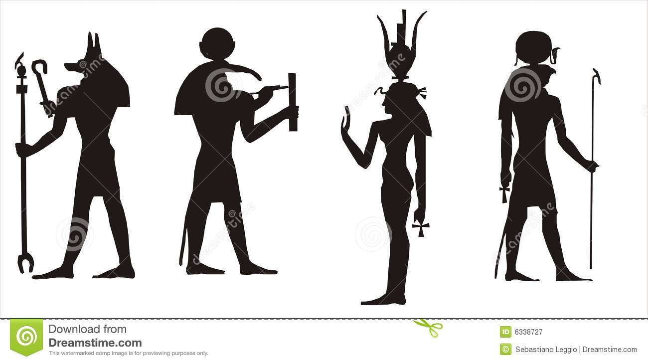 Isis stock illustrations 676 isis stock illustrations vectors egyptian gods silhouette silhouette of some of the main egyptian gods anubis toth biocorpaavc