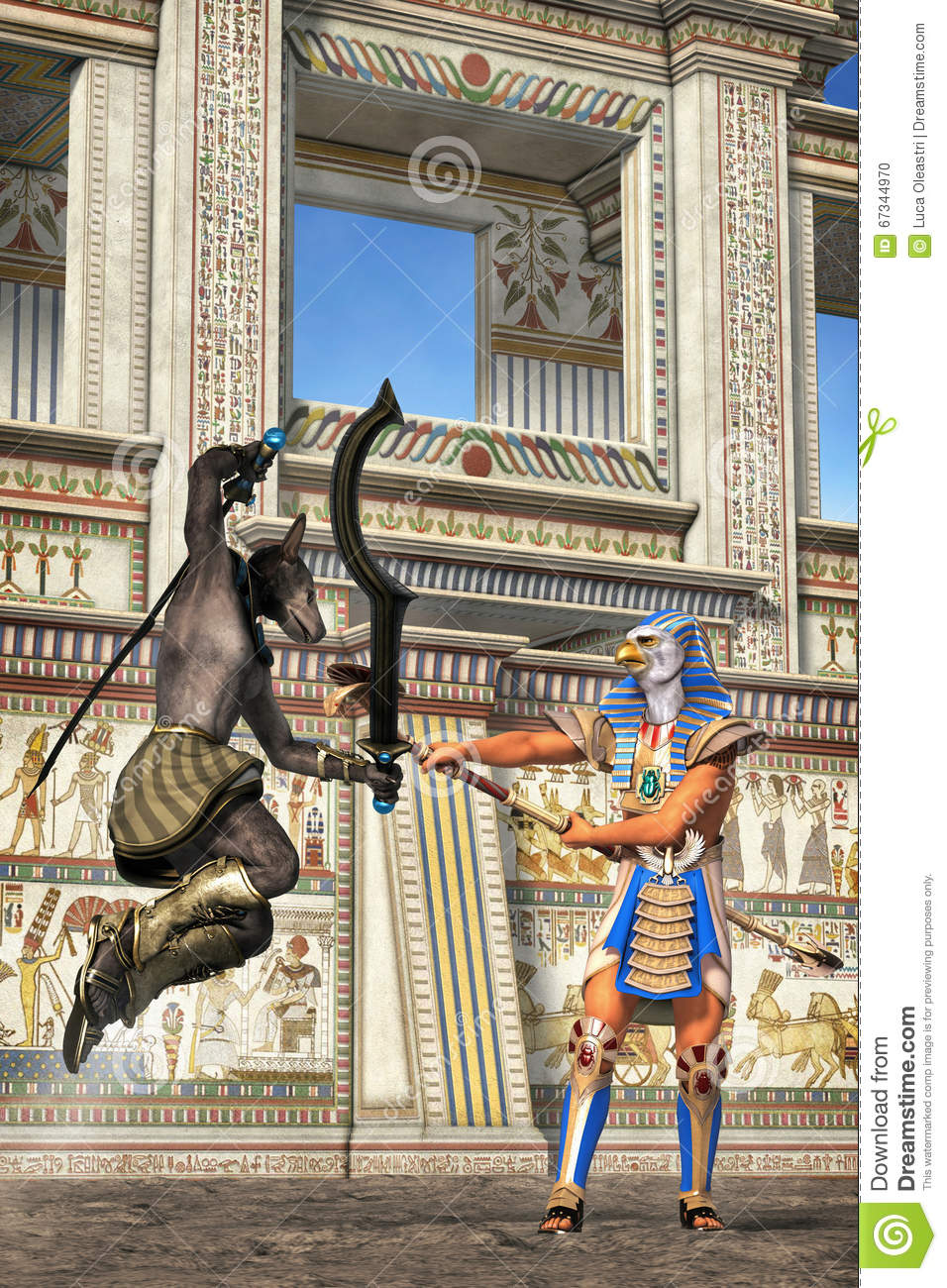 Egyptian goods duelling