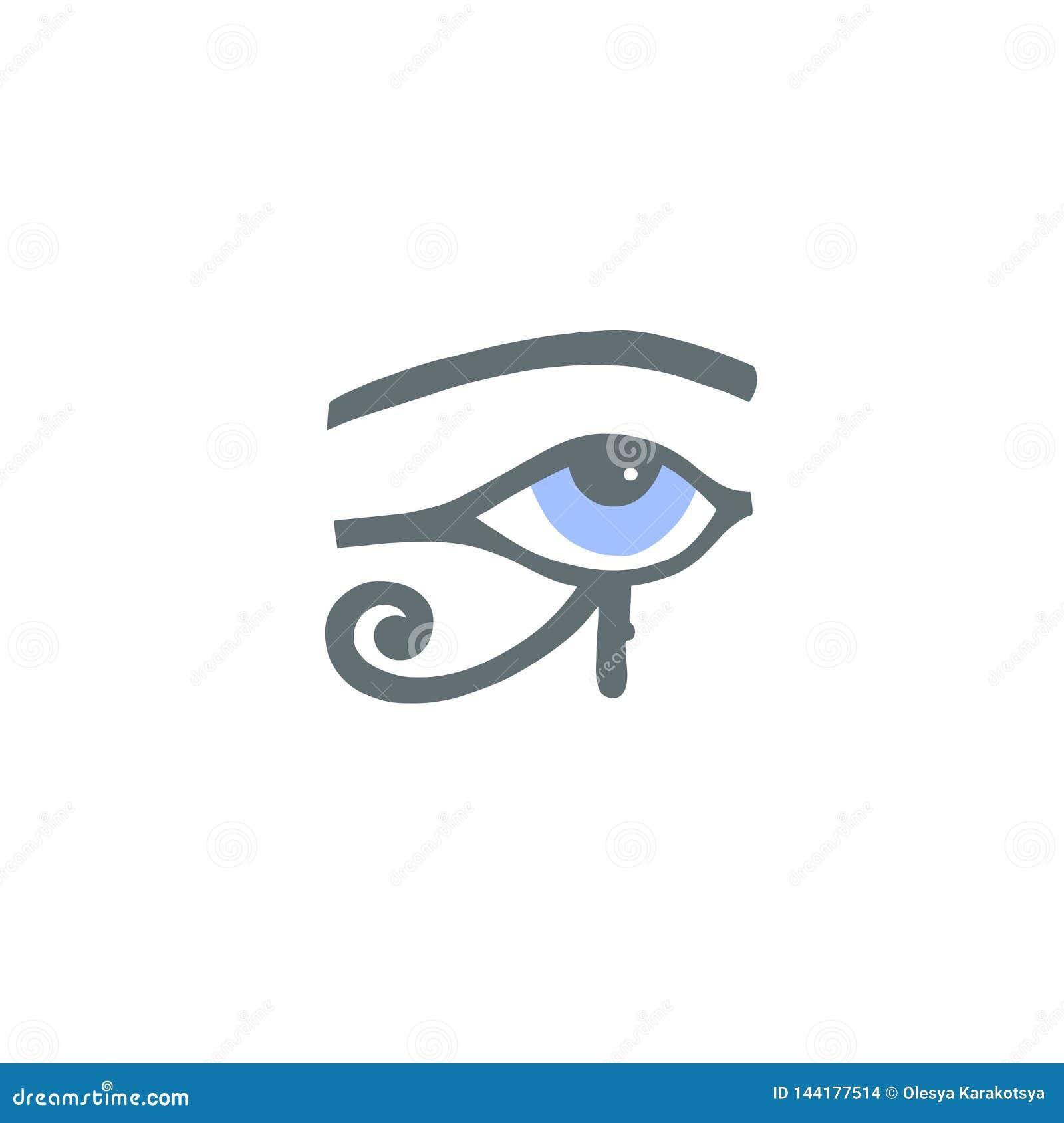 Egyptian Hieroglyph Eye Of Ra Or The Eye Of Horus Stock