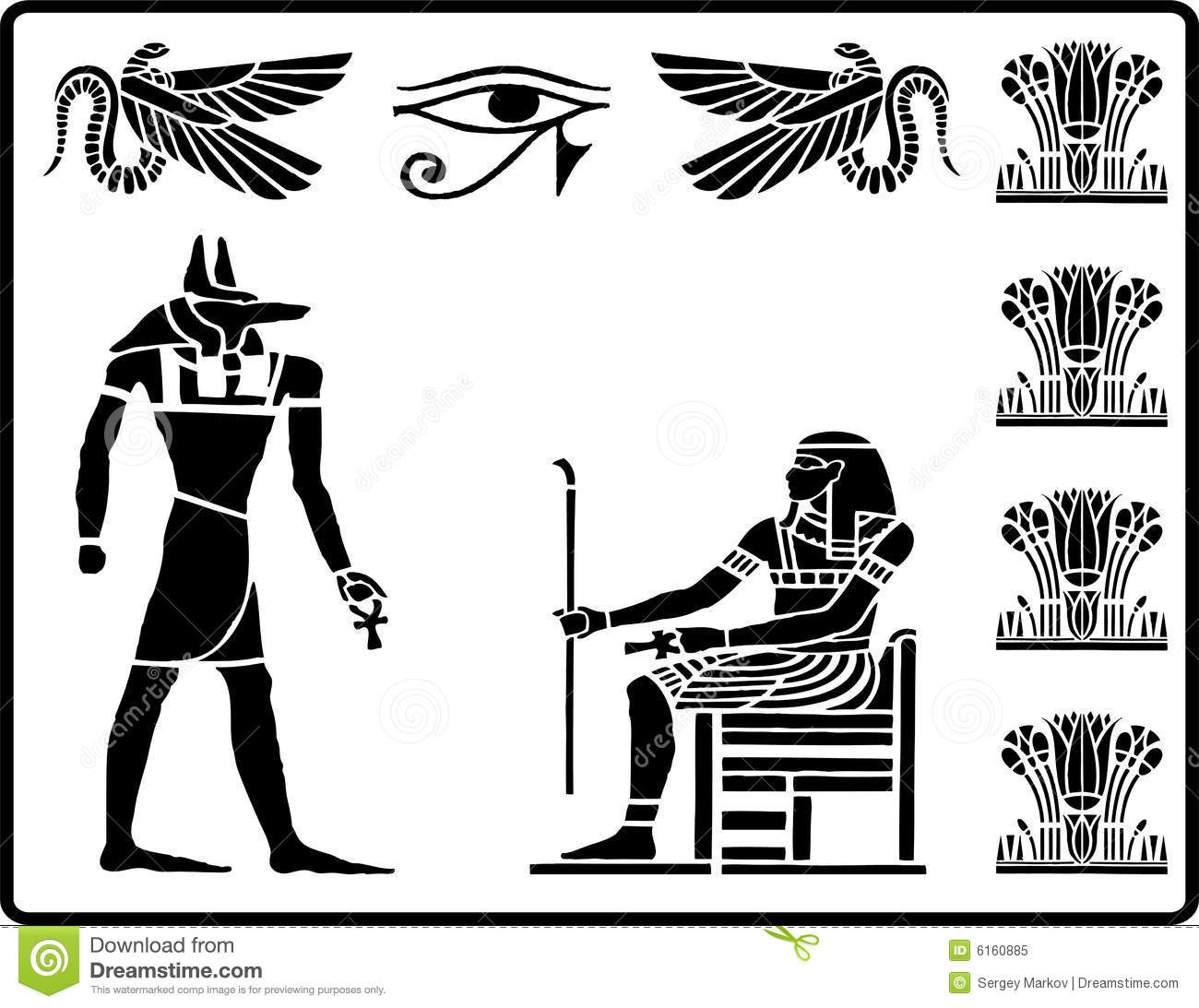 Egyptian Hieroglyphics - 2 Royalty Free Stock Photo - Image: 6160885