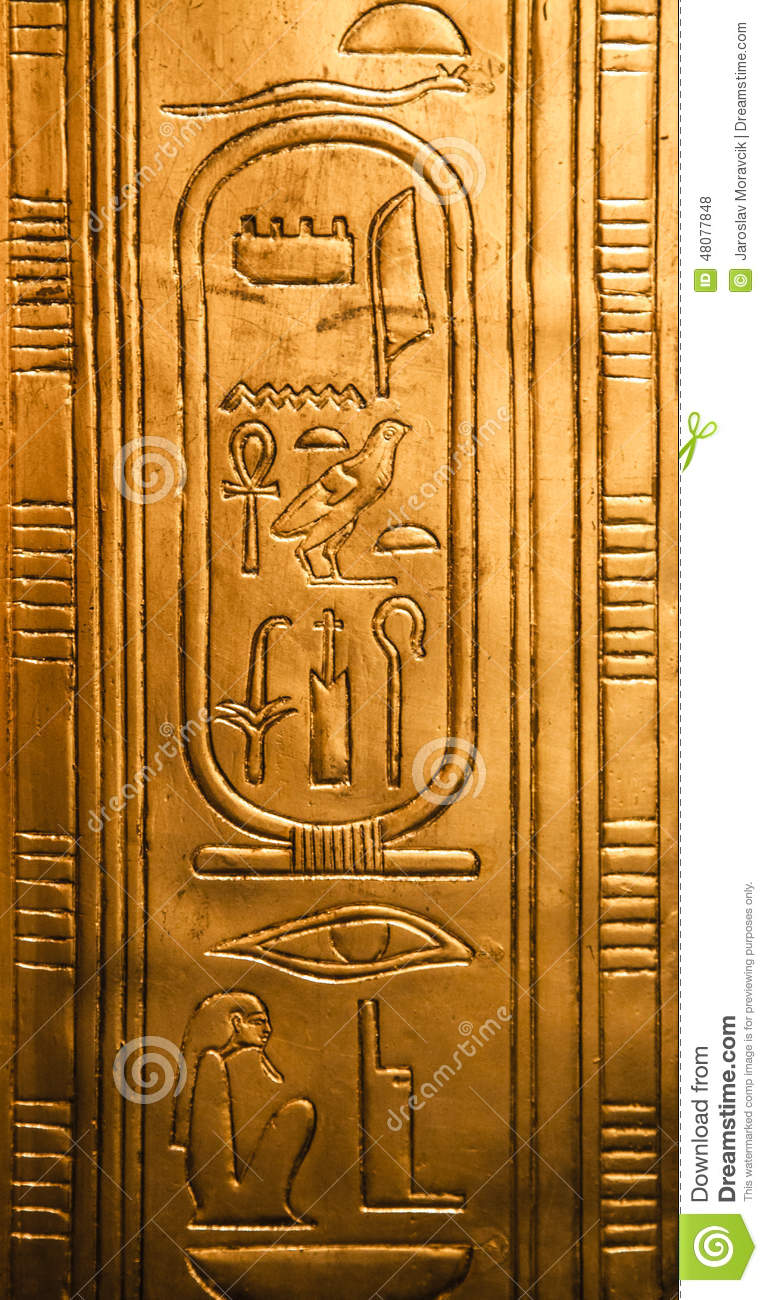Egyptian hieroglyphics stock photo. Image of historical ...