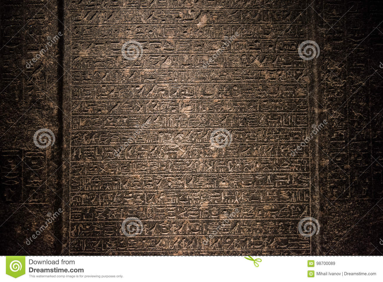 Egyptian hieroglyphs wall editorial stock image  Image of