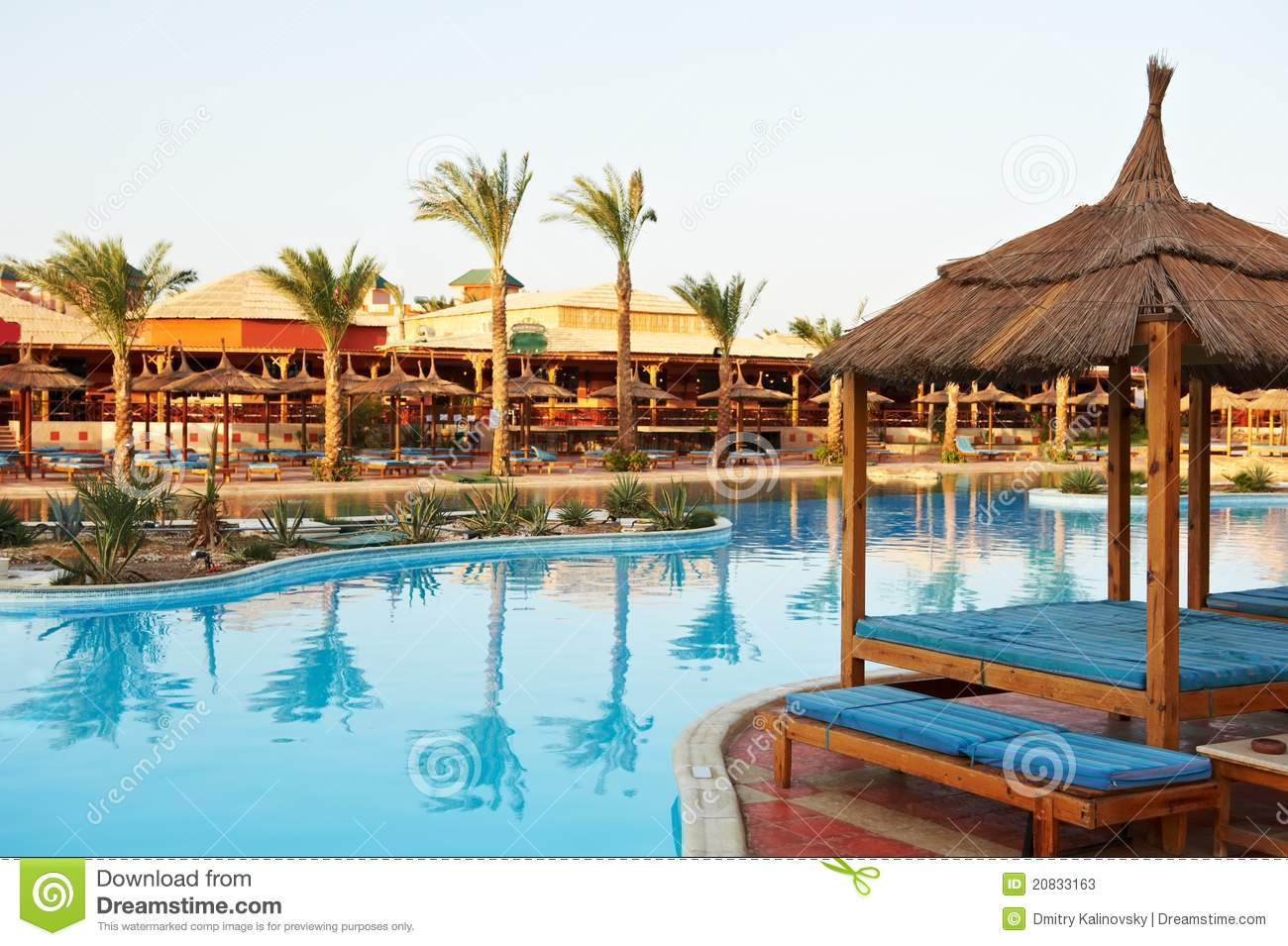 Egyptian Hotel Resort Background Stock Photos - Image ...