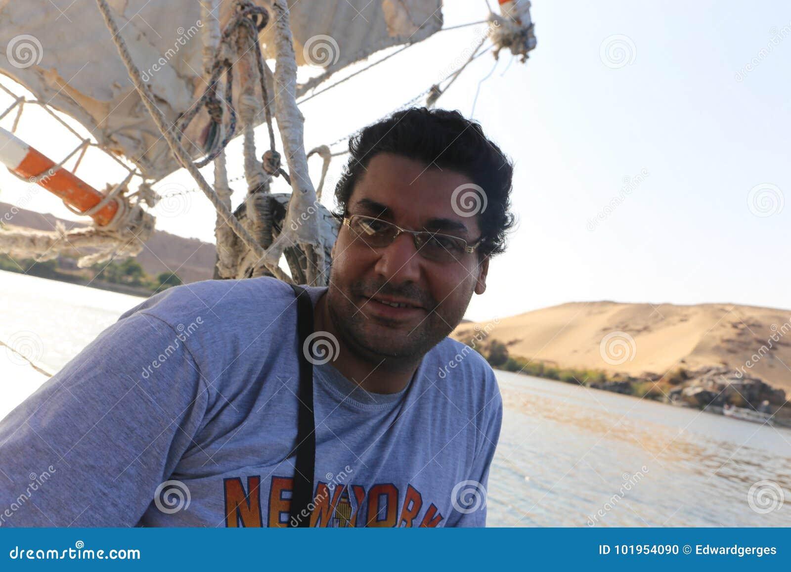 Egyptian man on boat