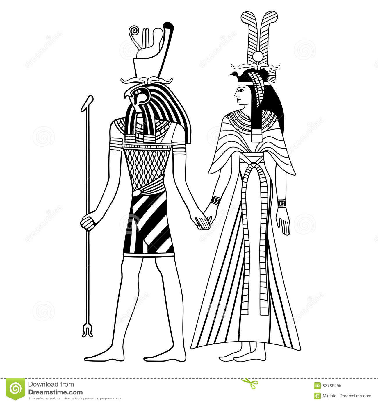 Egyptian National Drawing Stock Vector Illustration Of