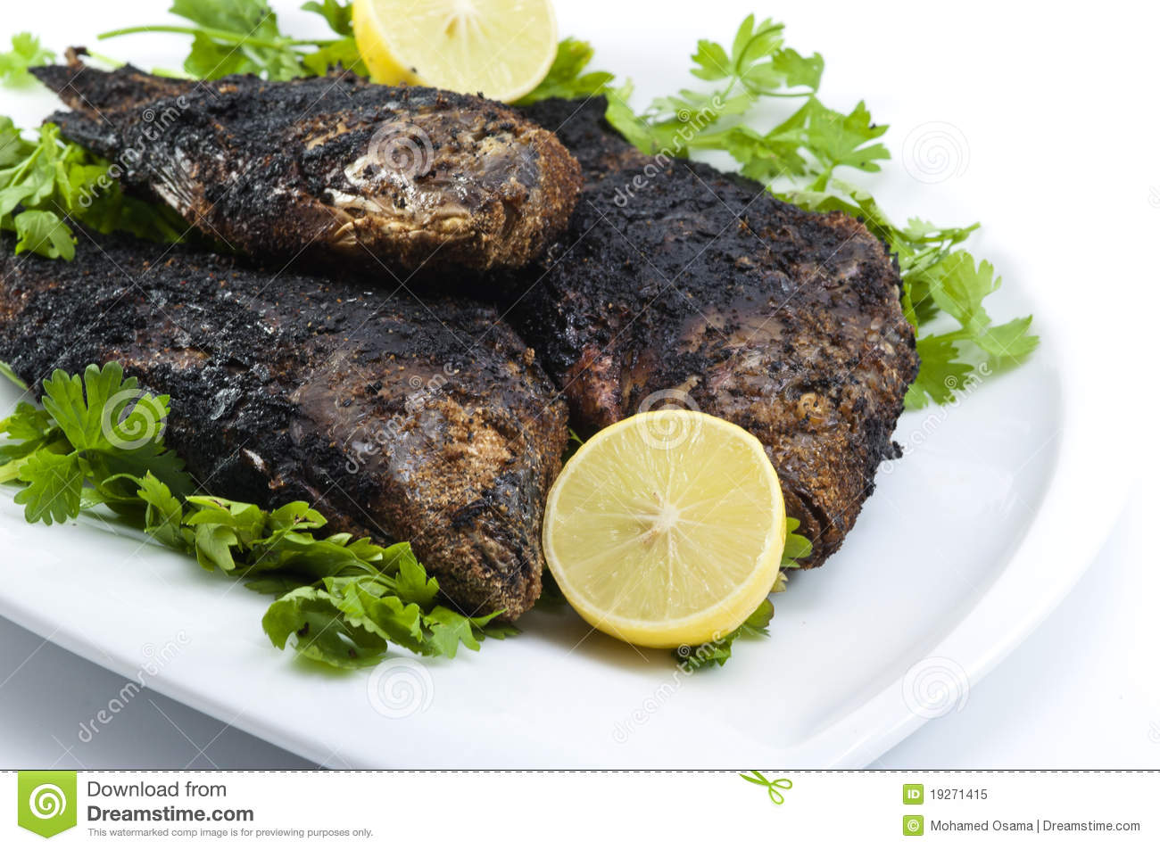 Grilled Whole Tilapia Egyptian nile tilapia grilled