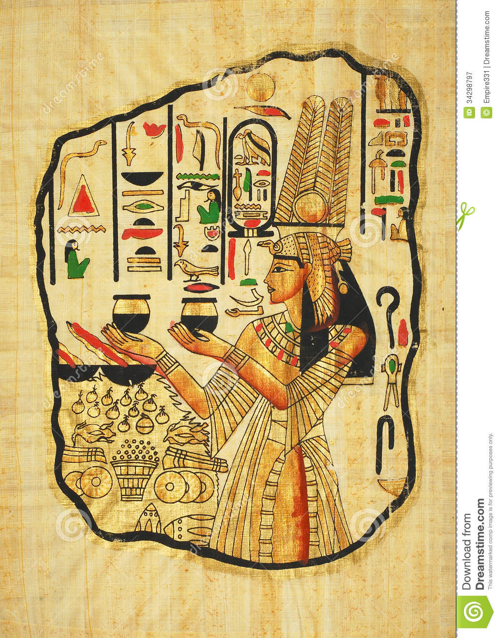 Egyptian Painting Royalty Free Stock Photography - Image ...