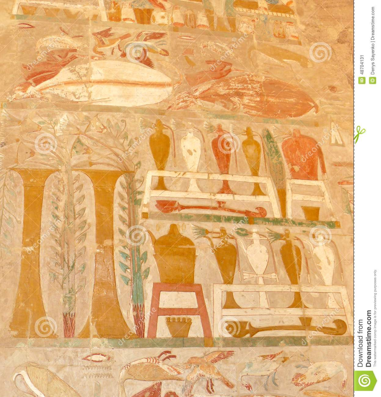 Egyptian painting stock image image of antique temple for Ancient egyptian mural paintings