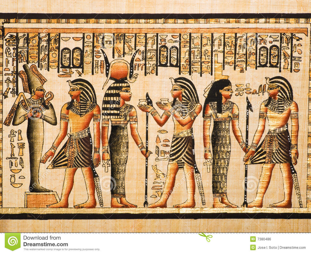 Egyptian Papyrus Stock Illustration Of Ancient