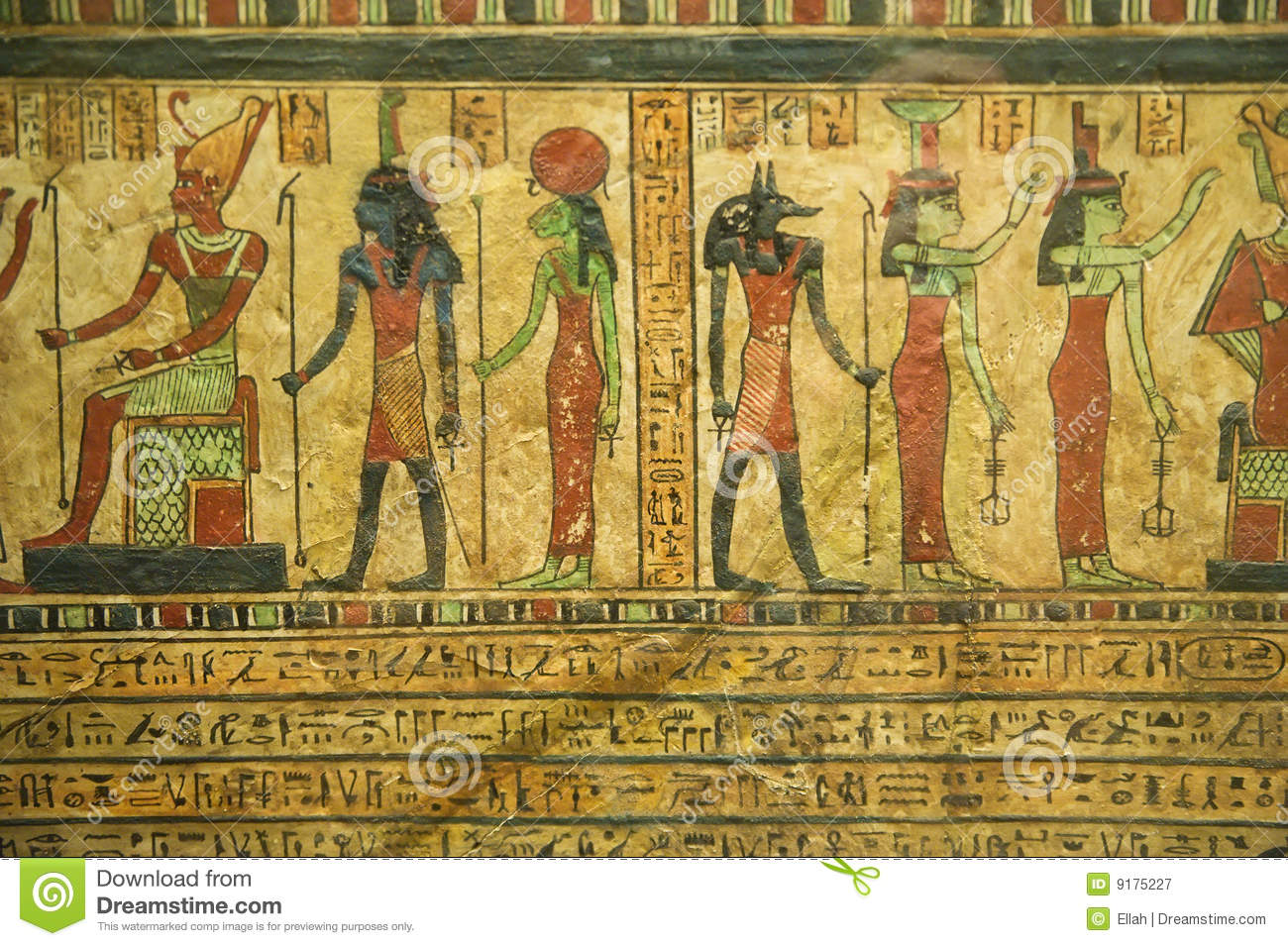 Egyptian papyrus royalty free stock photography image for Egyptian fresco mural painting