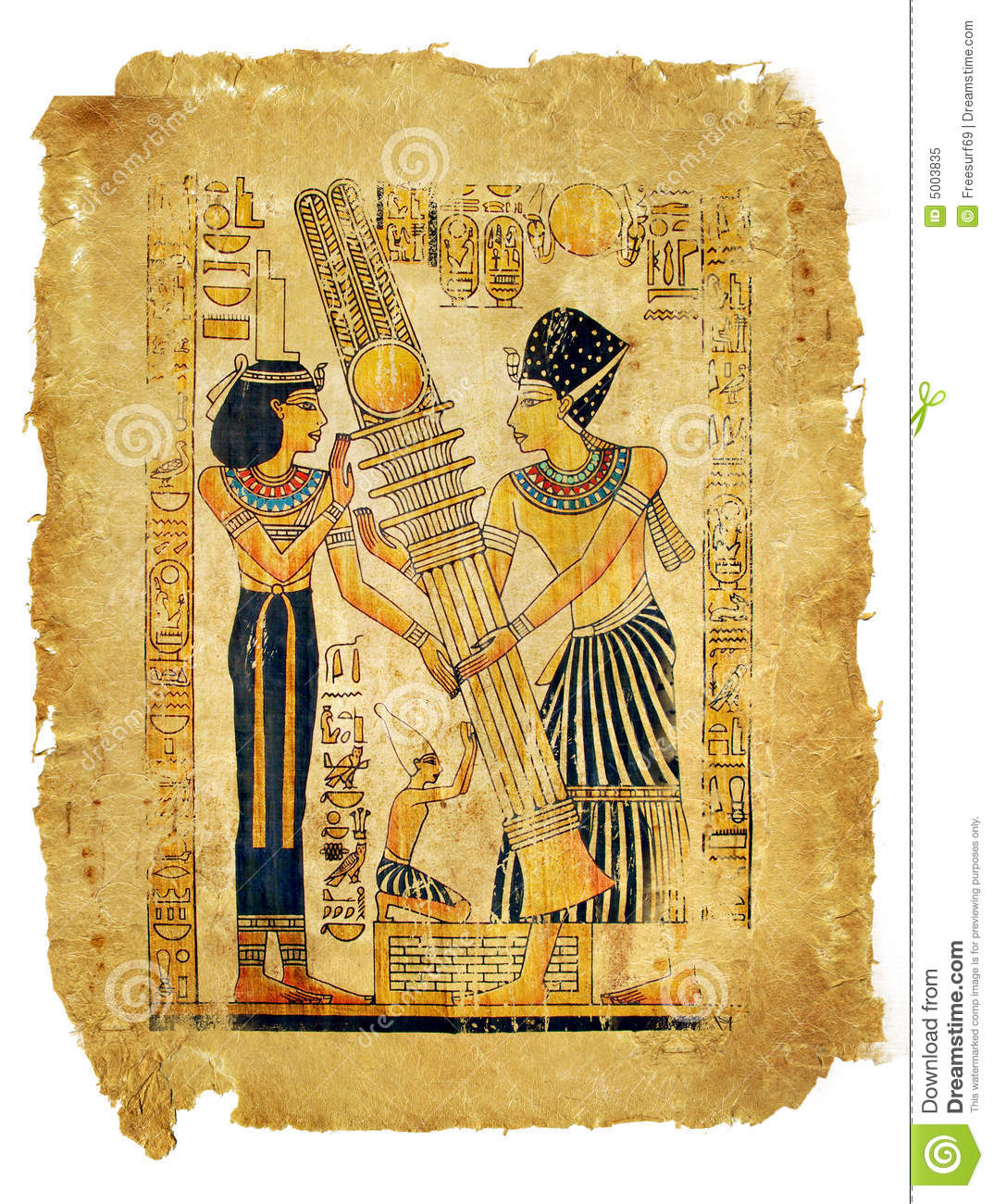 egyptian parchment royalty free stock photo