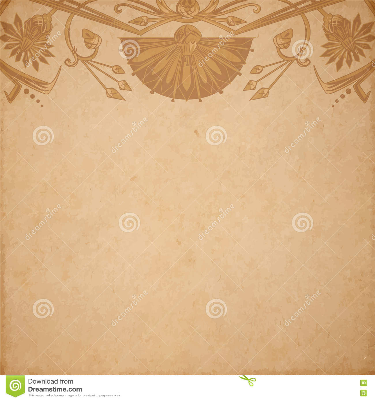 Download Egyptian Parchment Background Stock Vector