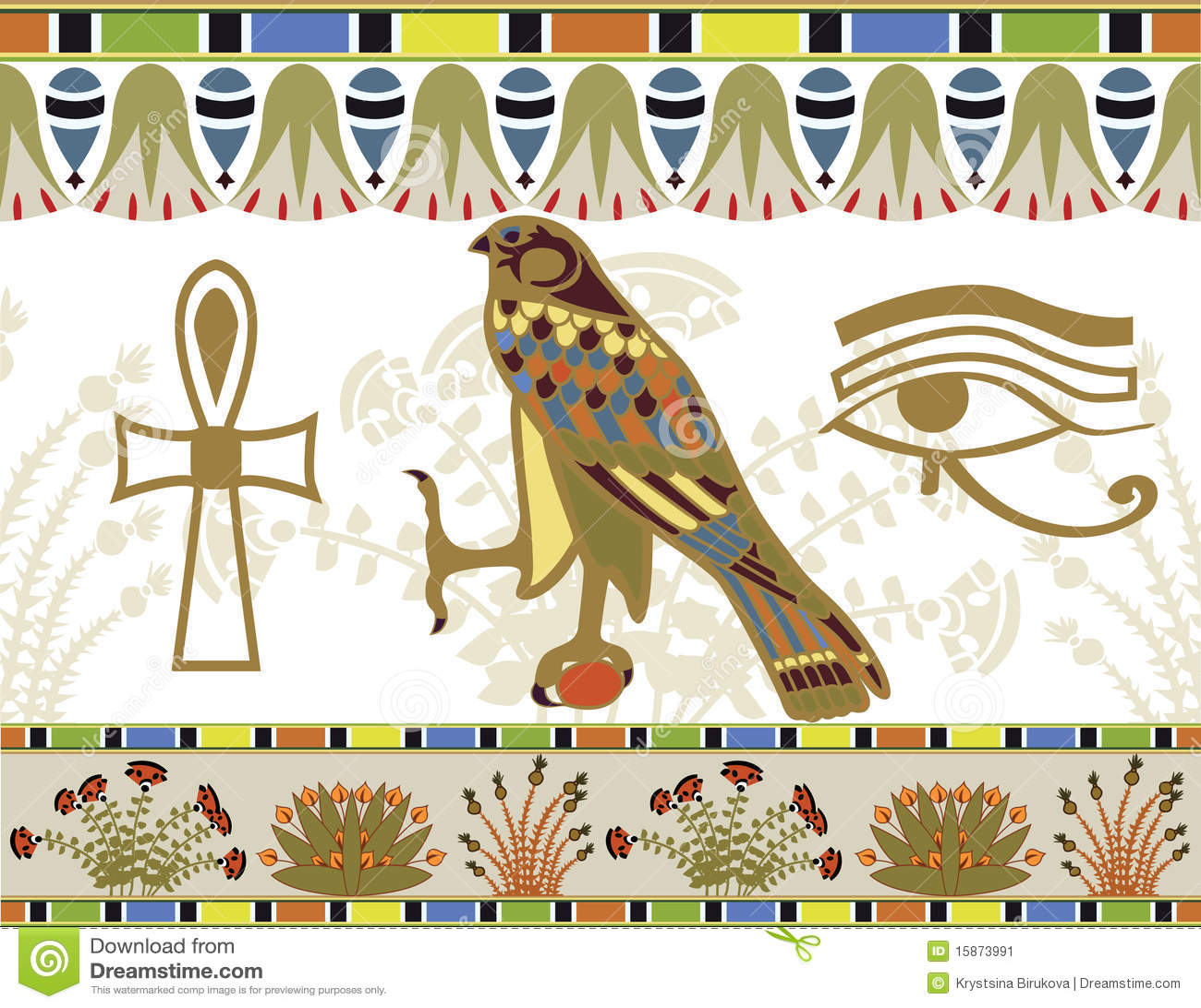 Egyptian Patterns And Symbols Stock Image - Image: 15873991