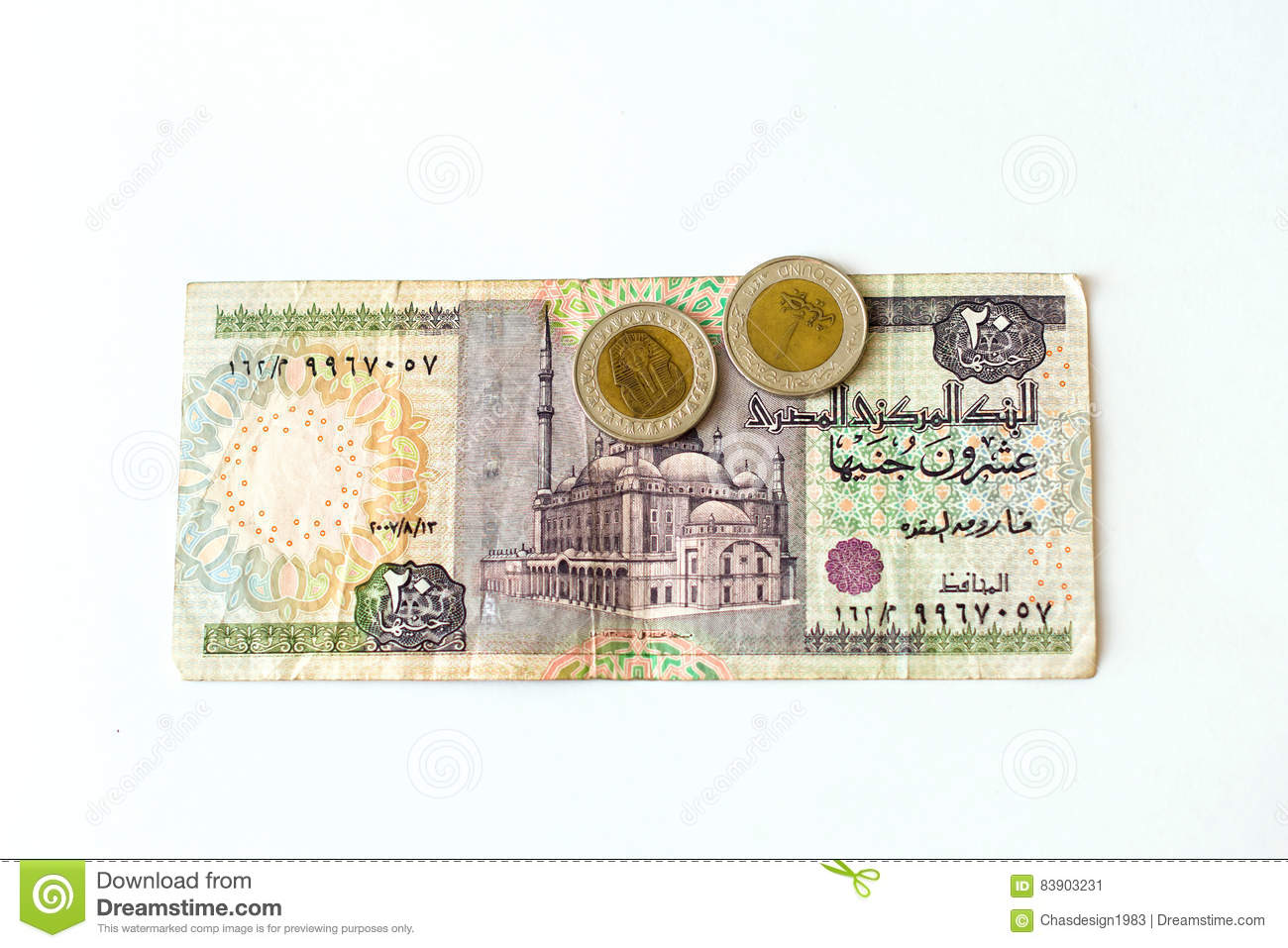 20 Egyptian Pounds Banknote Egp Stock Image Image Of Expenditure