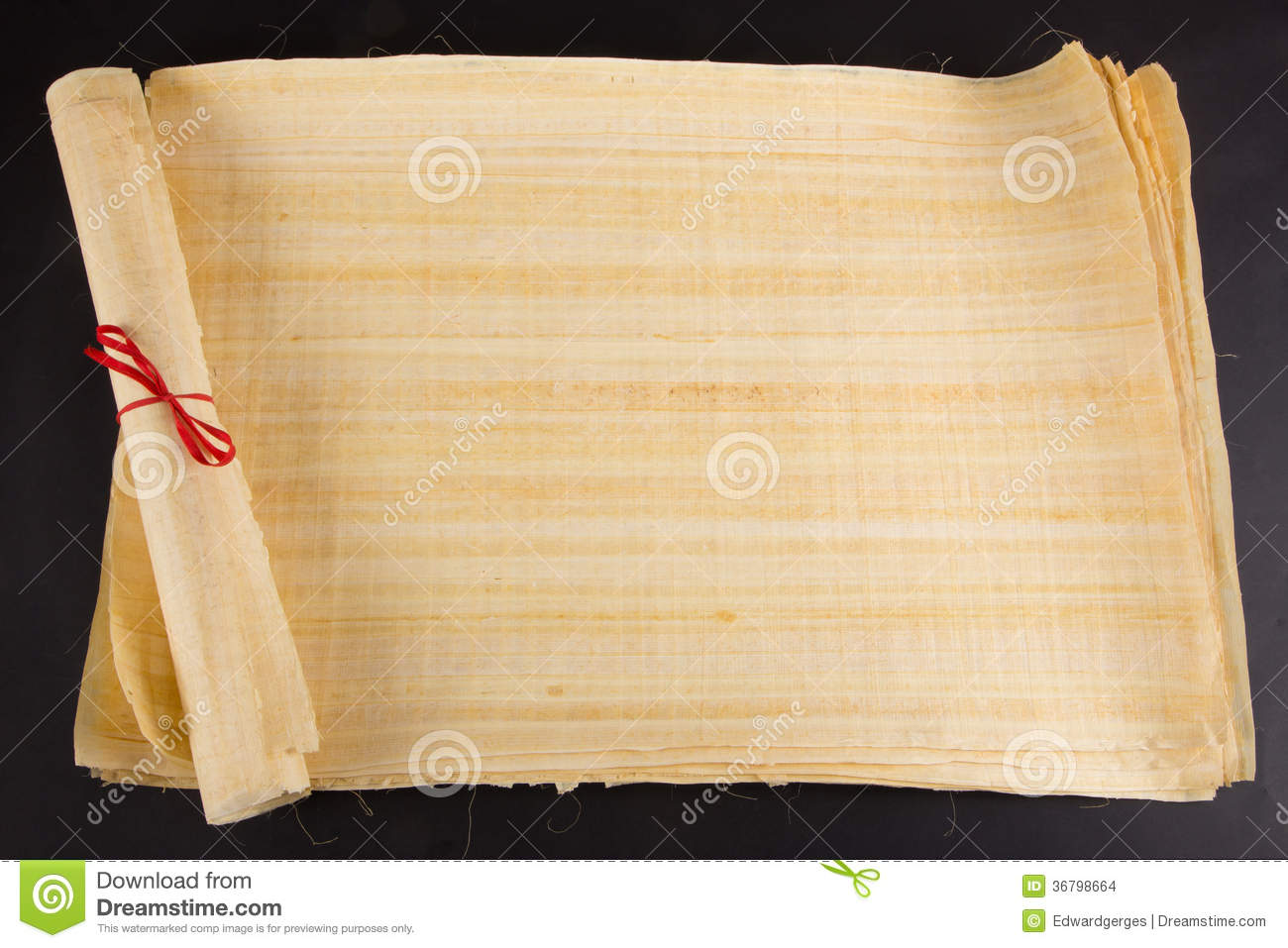 Egyptian Roll Blank Papyrus For Message Stock Images ...