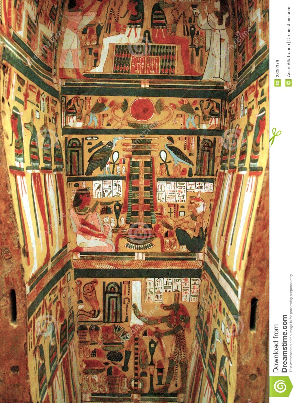 Furniture Interior Design Egypt ~ Egyptian sarcophagus stock image of paintings