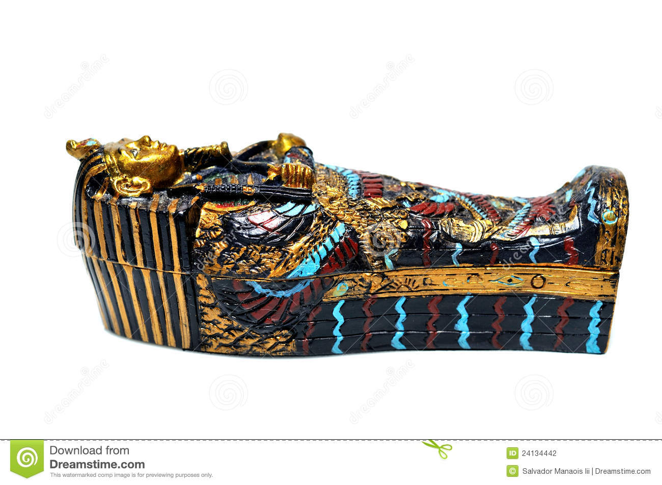 Egyptian Sarcophagus Stock Photography - Image: 24134442