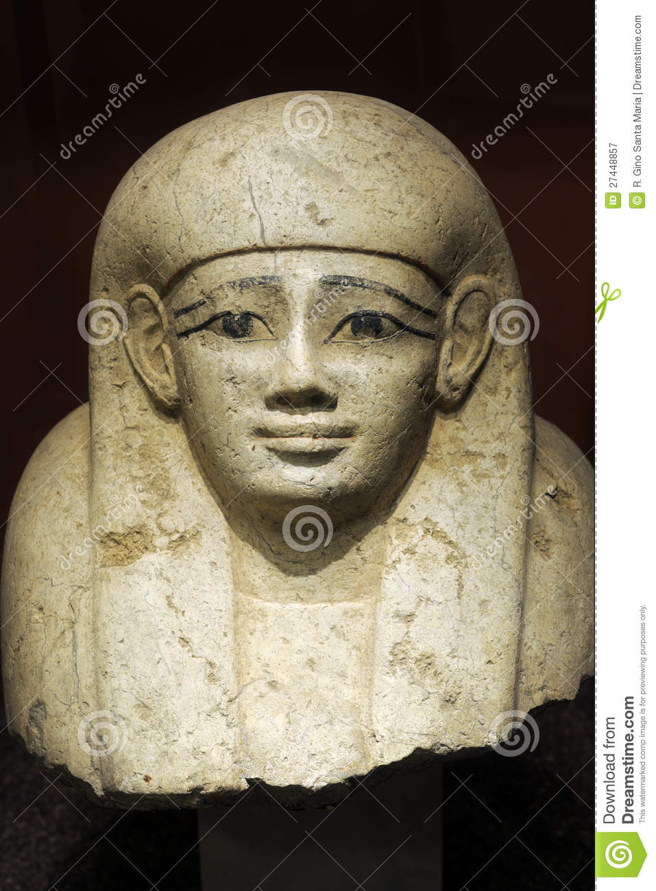 egyptian sculpture of pharaoh editorial photography