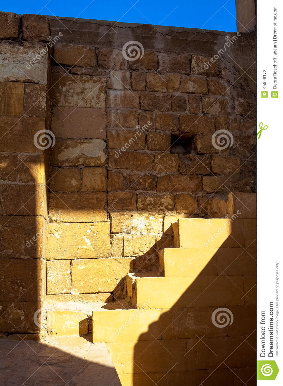 Egyptian stairs in light stock photo. Image of architecture - 45996172