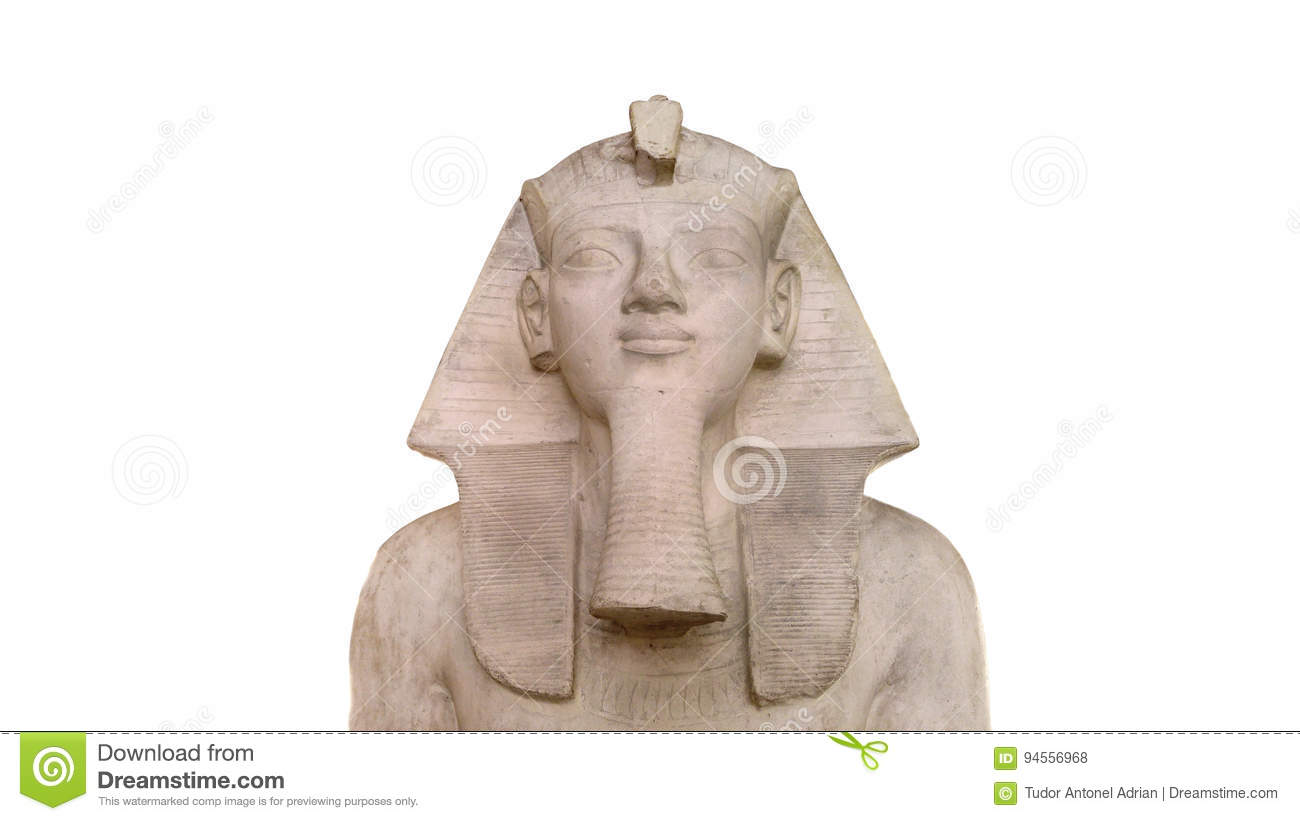 Egyptian statue isolated