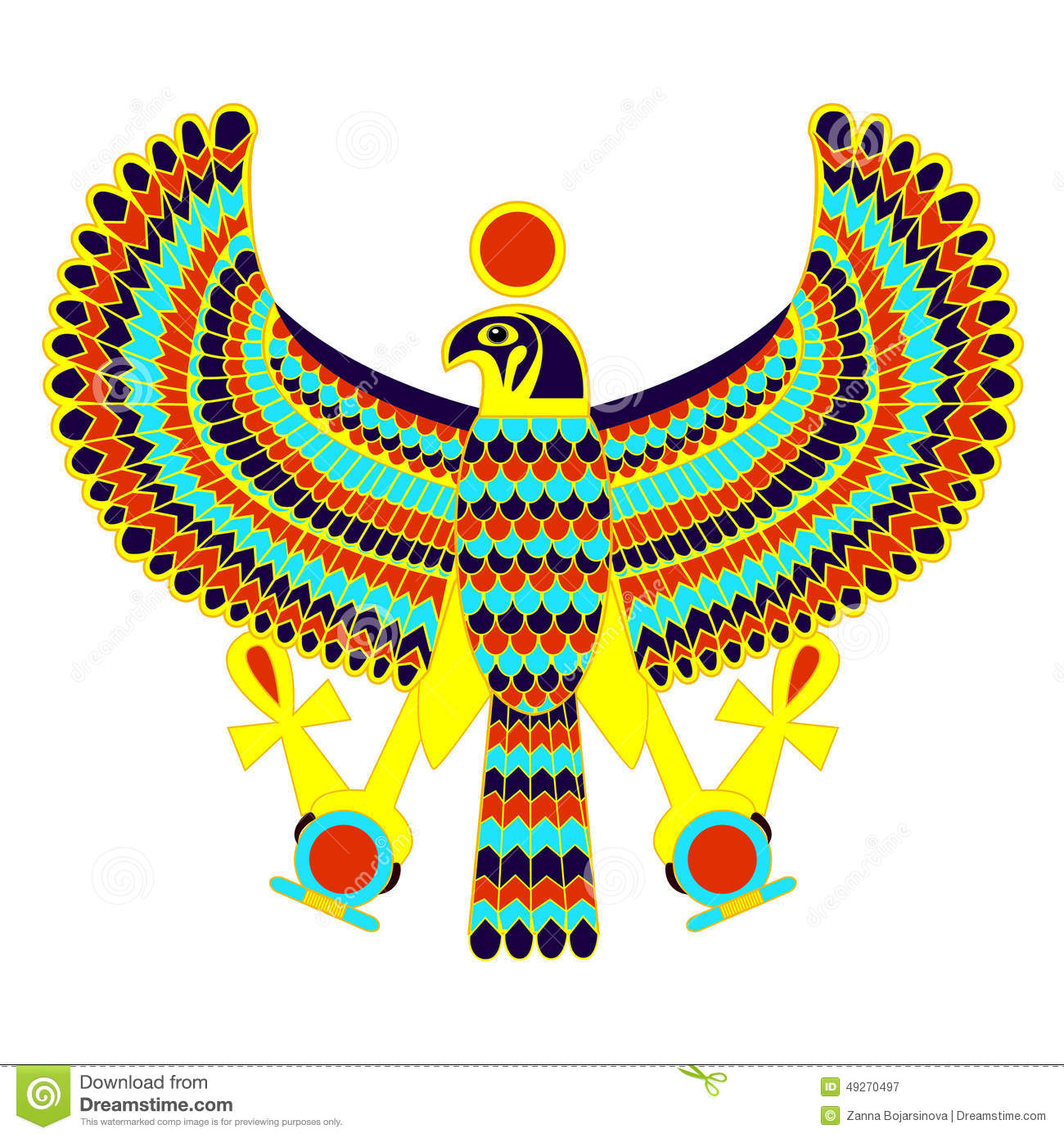 Egyptian symbol of falcon stock vector illustration of antique egyptian symbol of falcon buycottarizona Image collections