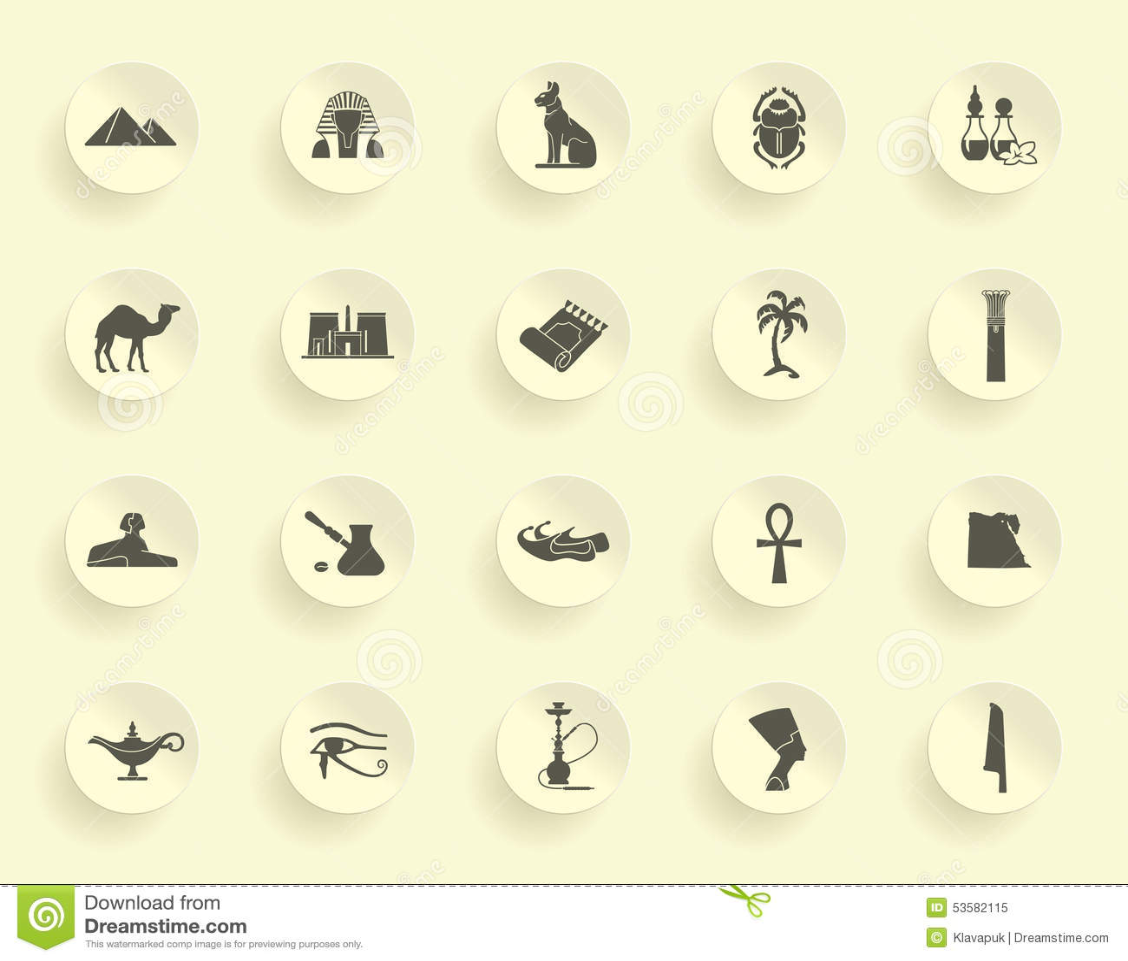 Egyptian Symbols Stock Vector Illustration Of Karnak 53582115