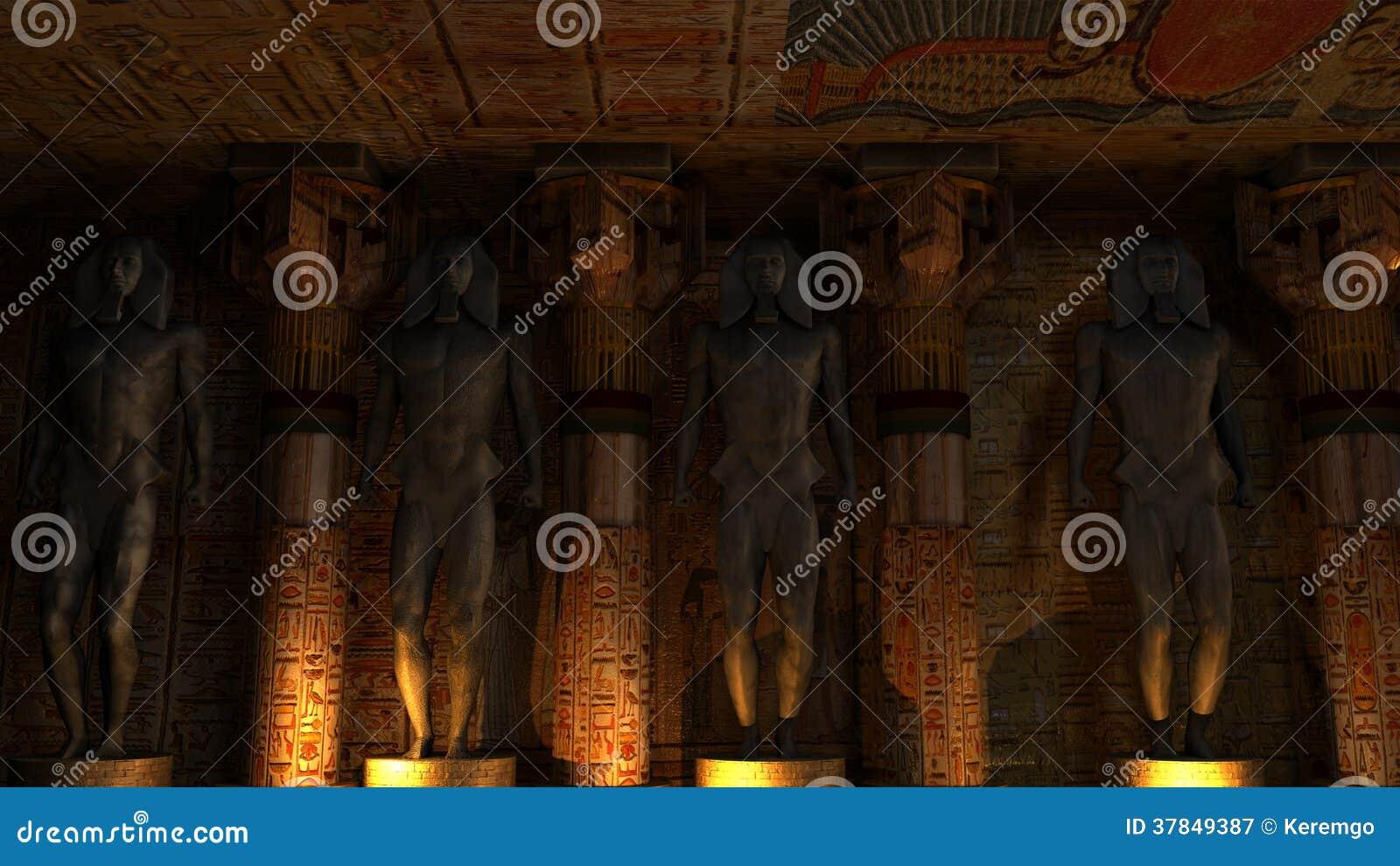 Egyptian Temple Interior