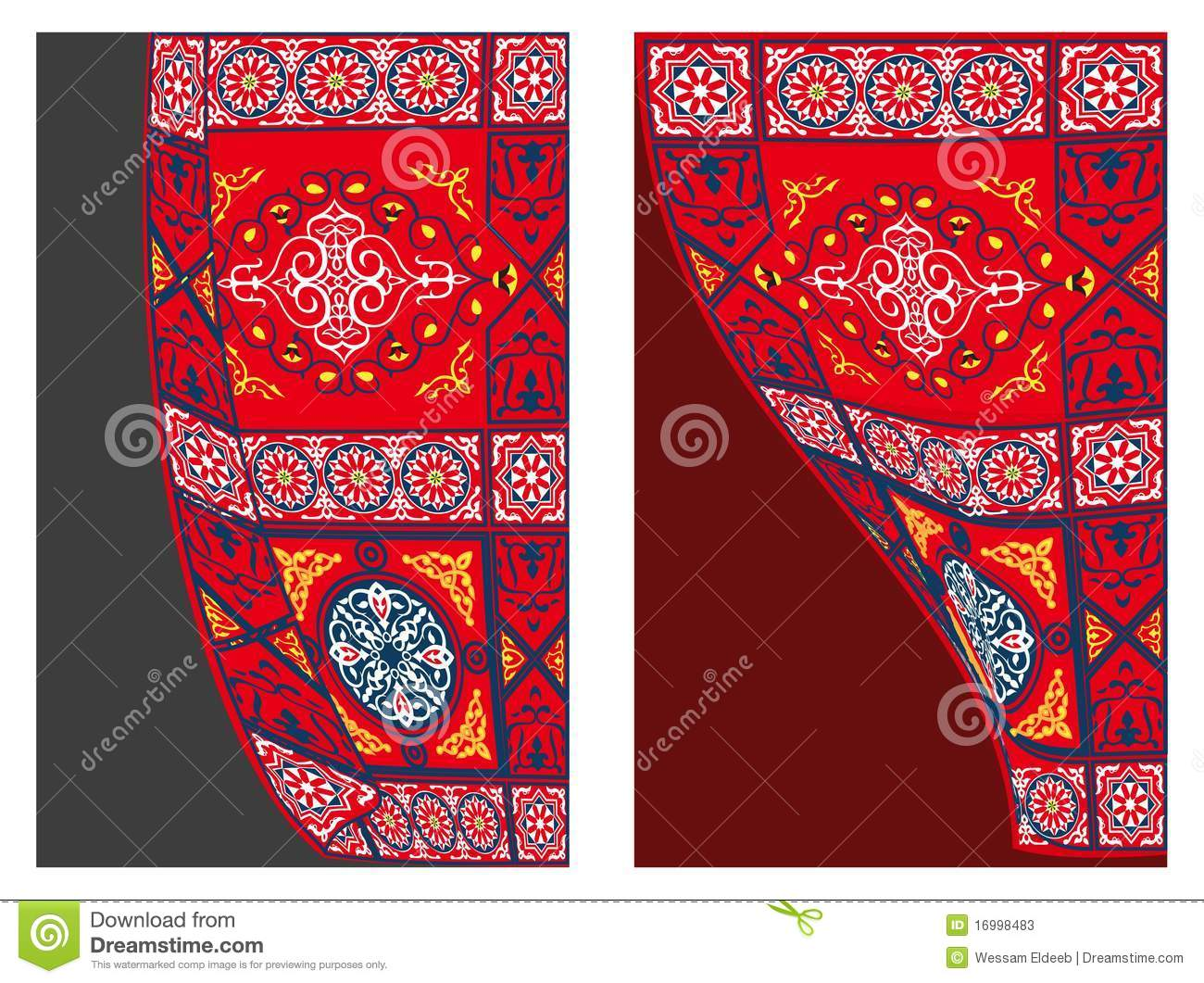 Egyptian Tent Fabric-Curtain Style 1 Stock Photos  sc 1 st  Dreamstime.com & Egyptian Tent Fabric Pattern 1-blue Stock Vector - Illustration of ...