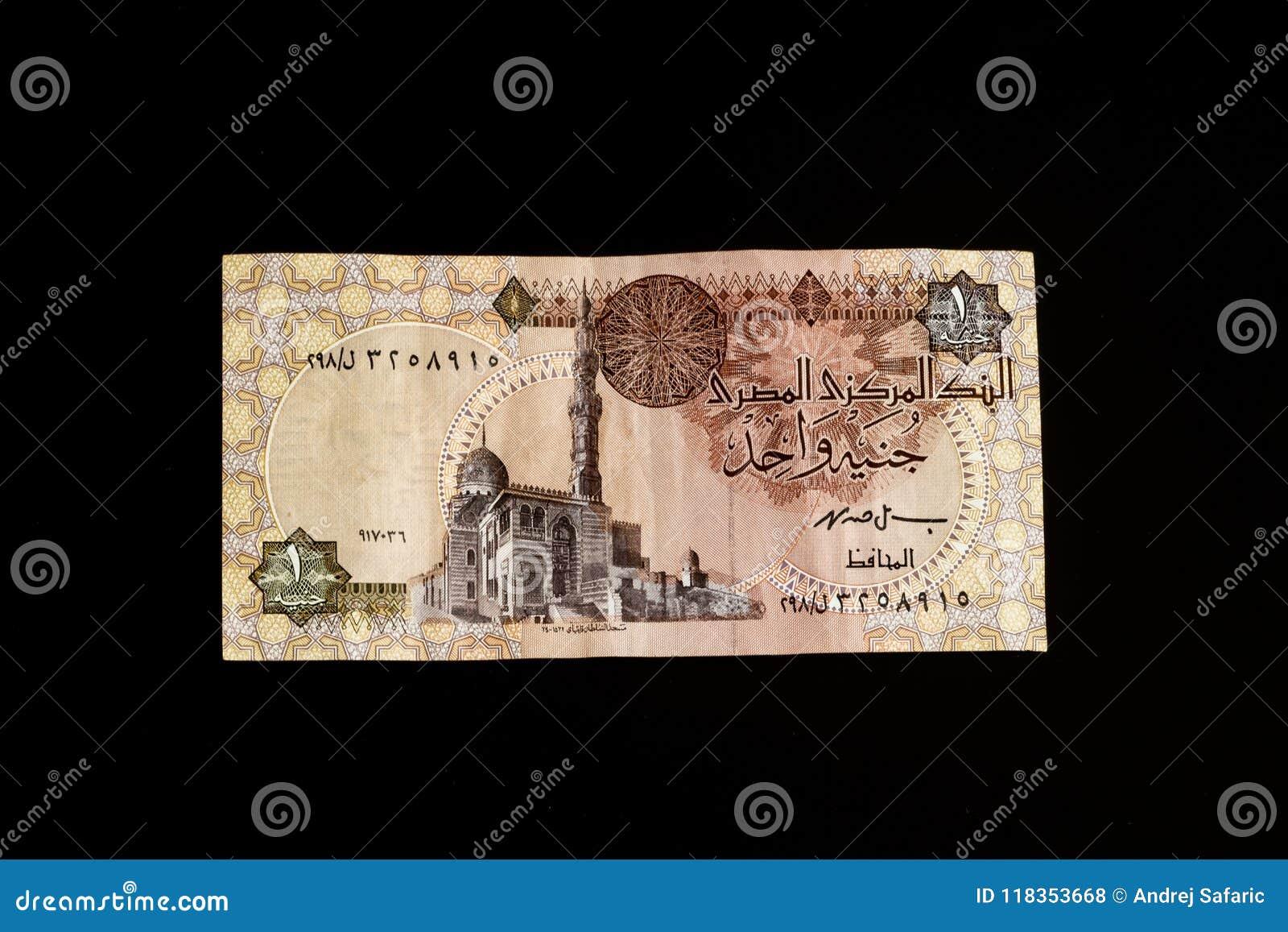 Egyptisch bankbiljet, Tempel van Ramses II in Abu Simbel, één Egyptisch Pond