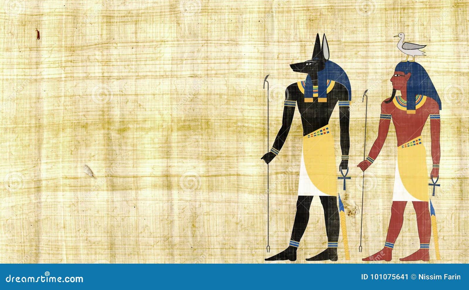 egyptische goden anubis en geb stock video - video bestaande uit