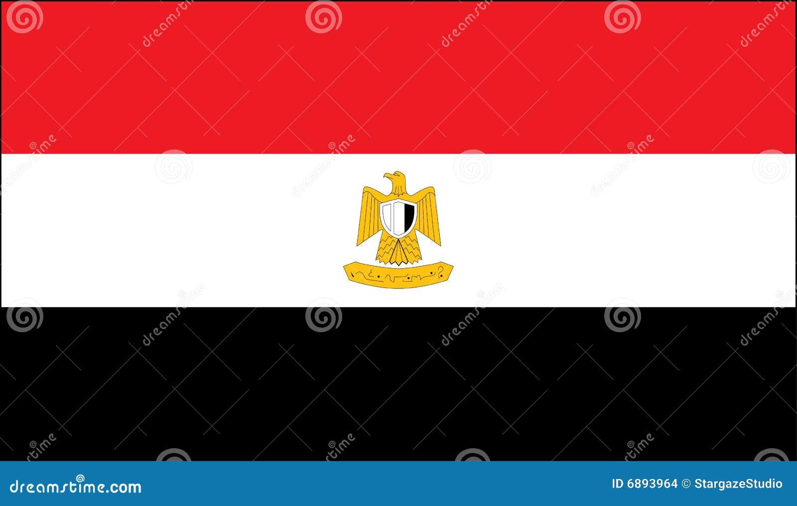 egyptische nationale vlag vector illustratie illustratie