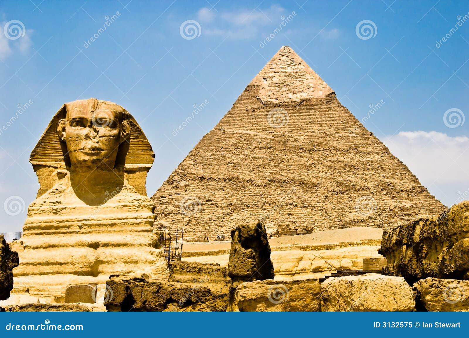 Egyptische Sfinx die Phara bewaakt