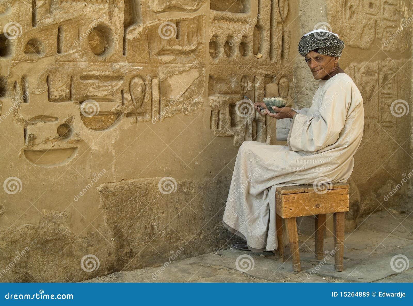 Egyptische Tempel 1 Van De Restauratie Redactionele Stock
