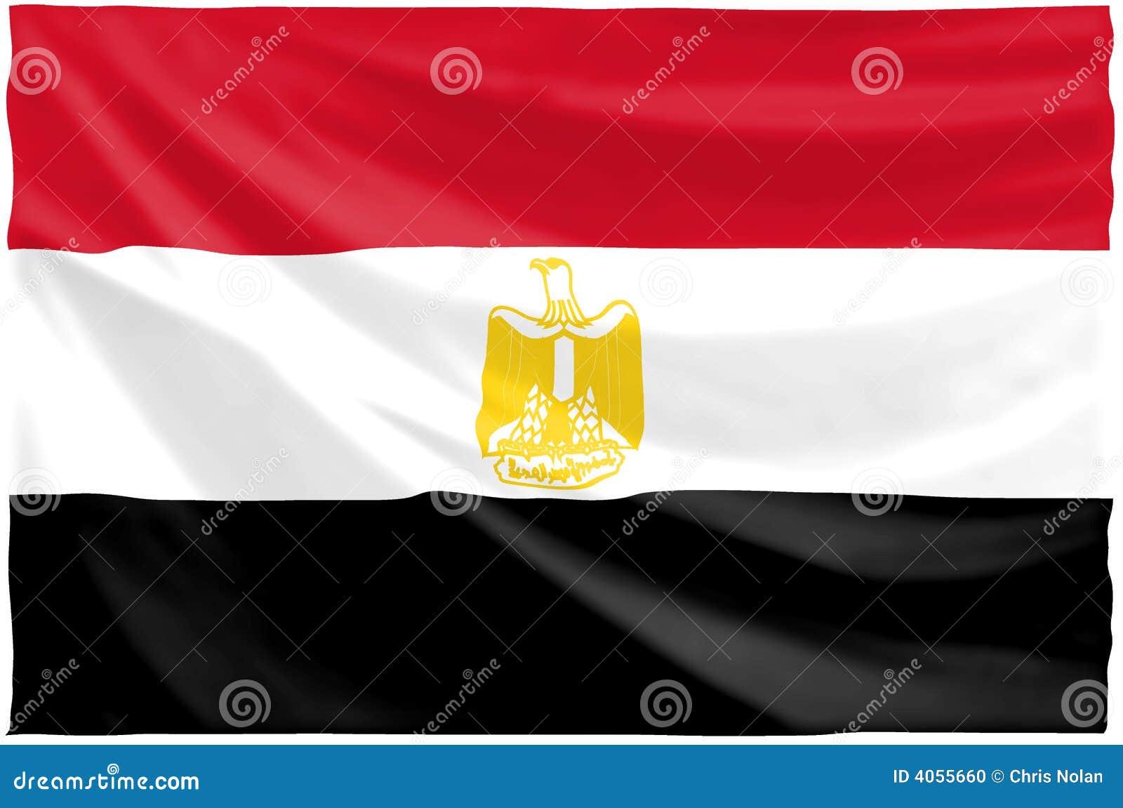 egyptische vlag stock illustratie illustratie bestaande