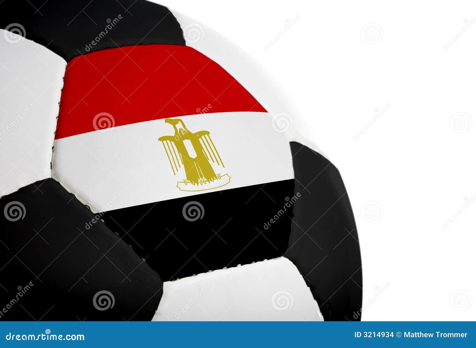 egyptische vlag voetbal stock foto afbeelding bestaande