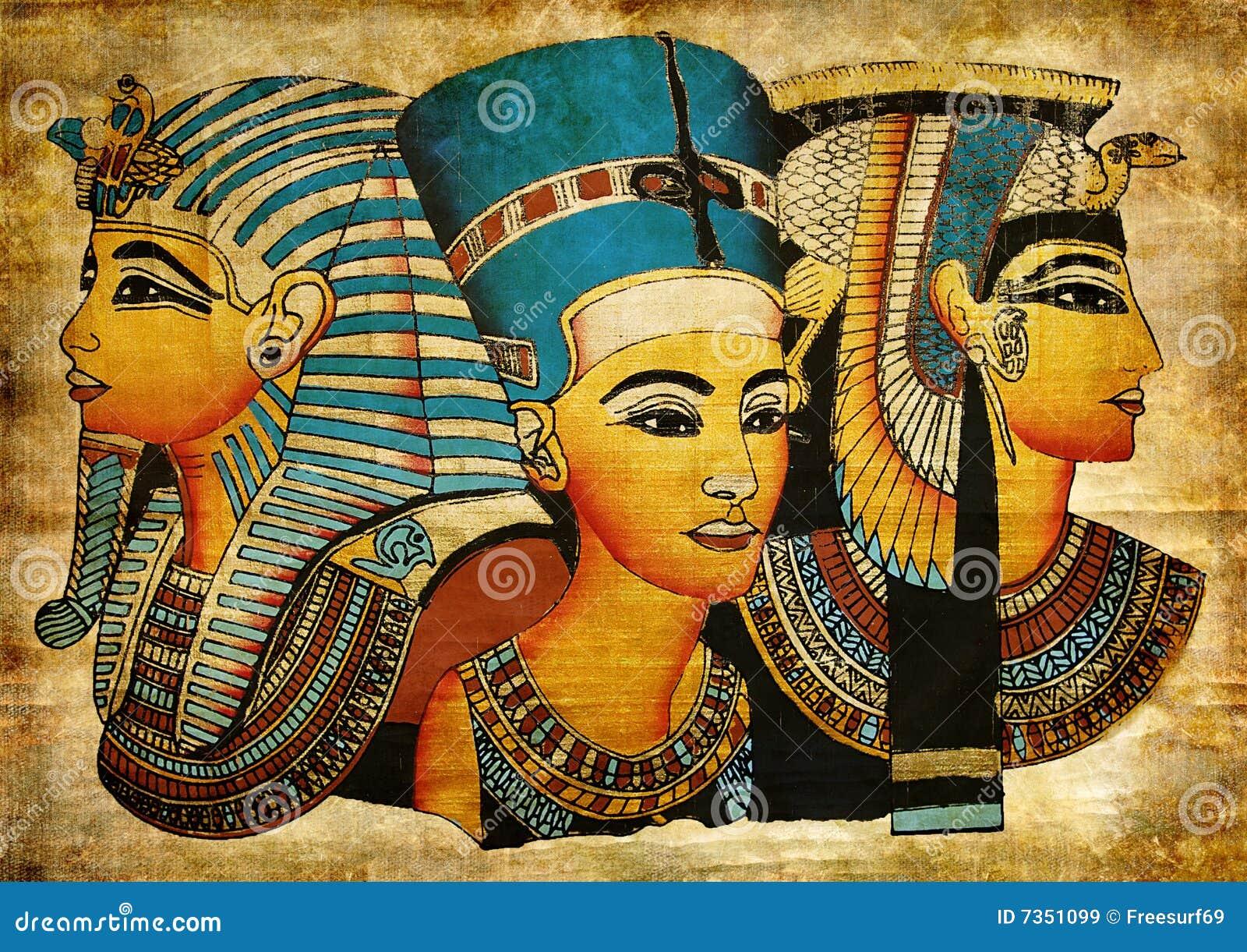 Egyptisk gammal papyrus