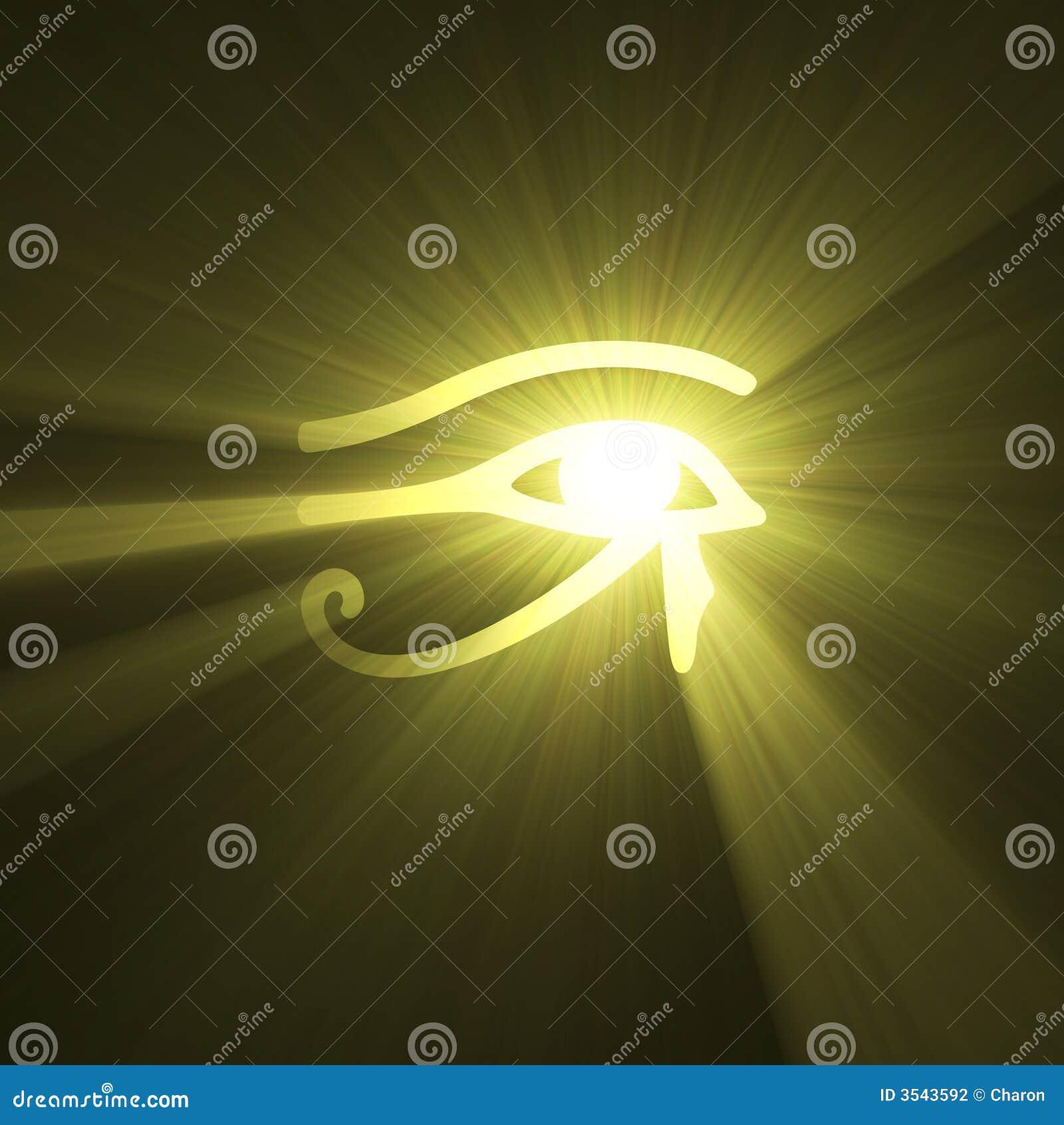 Egyptiskt symbol för lampa för ögonsignalljushorus