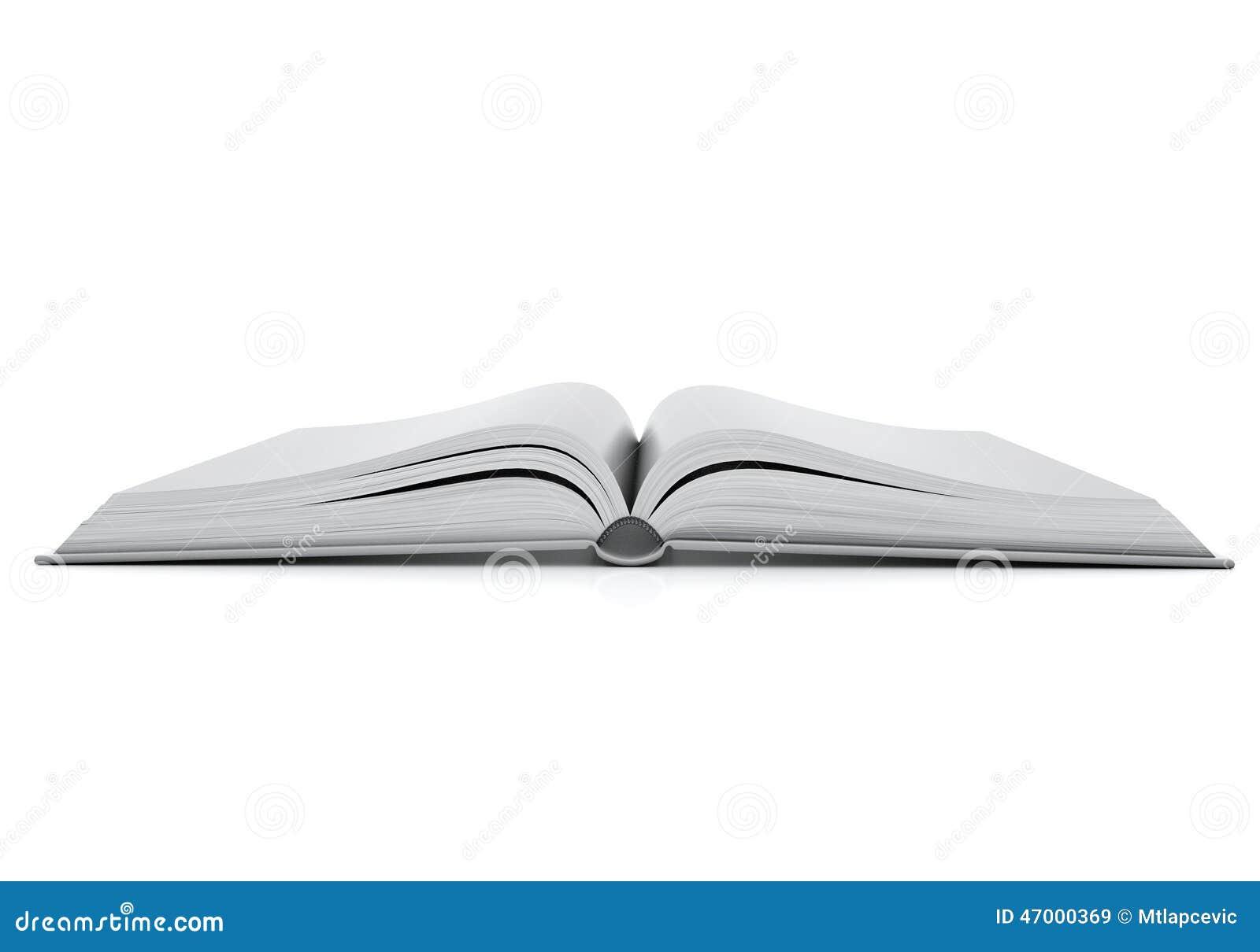 Egzaminu próbnego up pusta rozpieczętowana książka z hardcovers, odizolowywającymi na białym tle