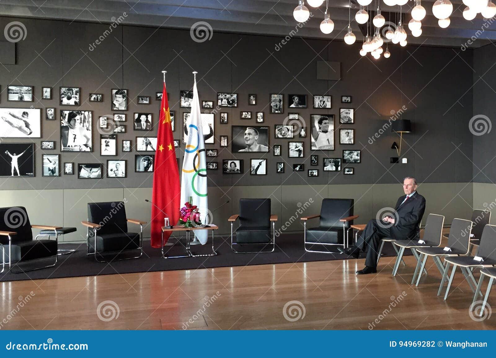 Ehemaliger Präsident Jacques Rogge des internationalen Olympischen Komitees