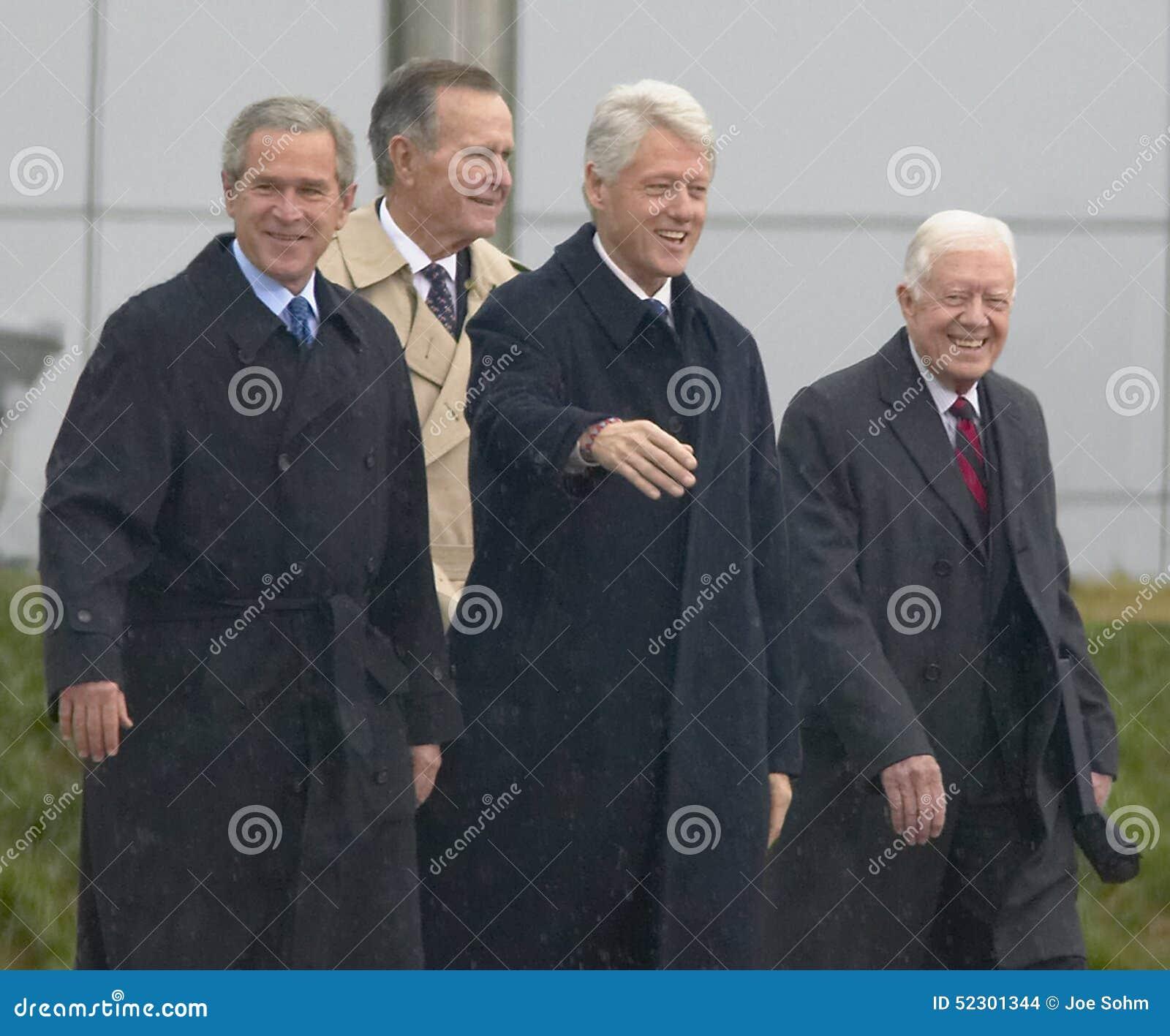 Ehemaliger USpräsident Thomas Jefferson wird auf dem Gegenstücck der Anmerkung gekennzeichnet S Präsident Bill Clinton bewegt vom