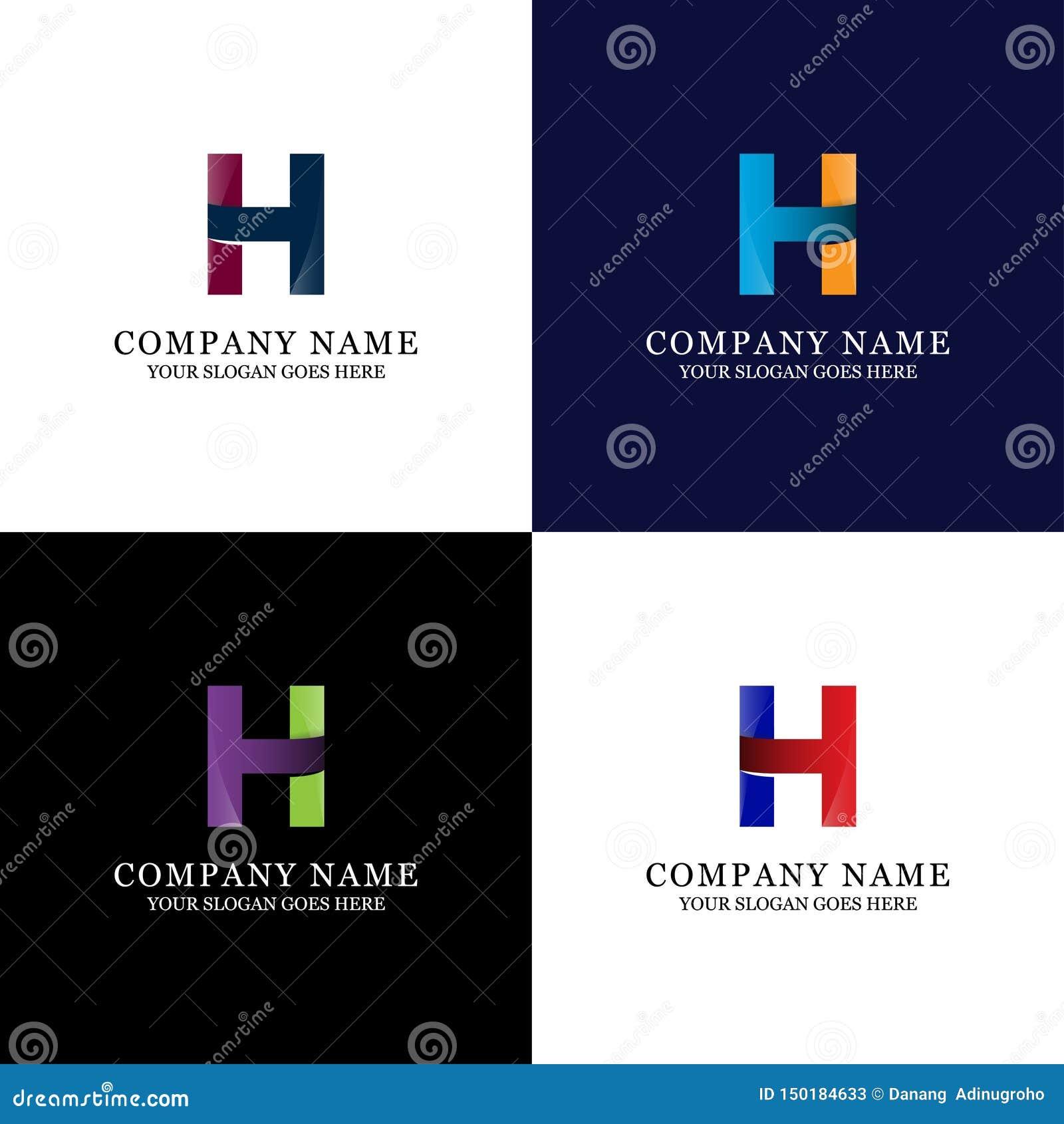 Ehrfürchtige h-Buchstabe-Logoschablone - moderne und Tendenzinitiale Vektor