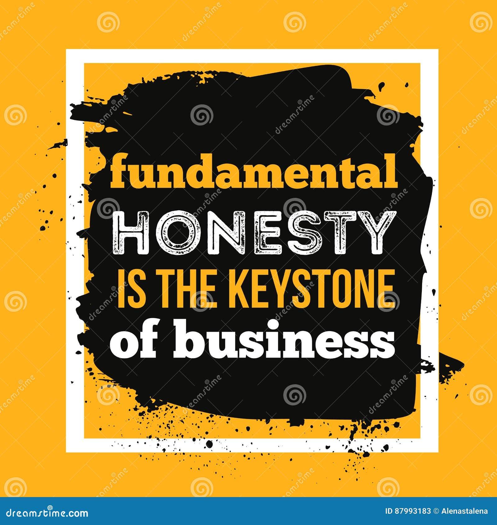 Ehrlichkeit Ist Das Fundament Des Geschäfts Typografie