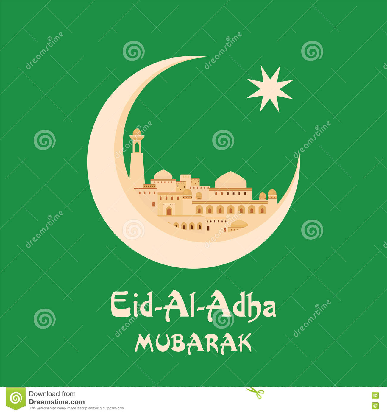 Eid al adha greeting card stock vector illustration of hajj 75564957 eid al adha greeting card m4hsunfo Image collections